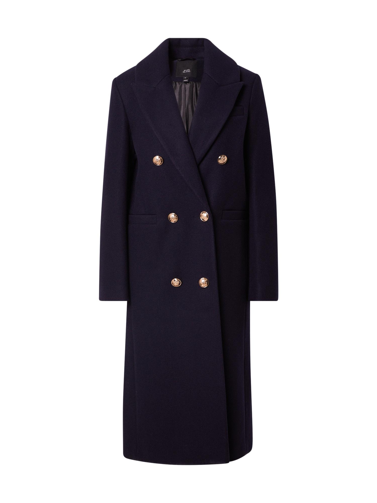River Island Demisezoninis paltas tamsiai mėlyna