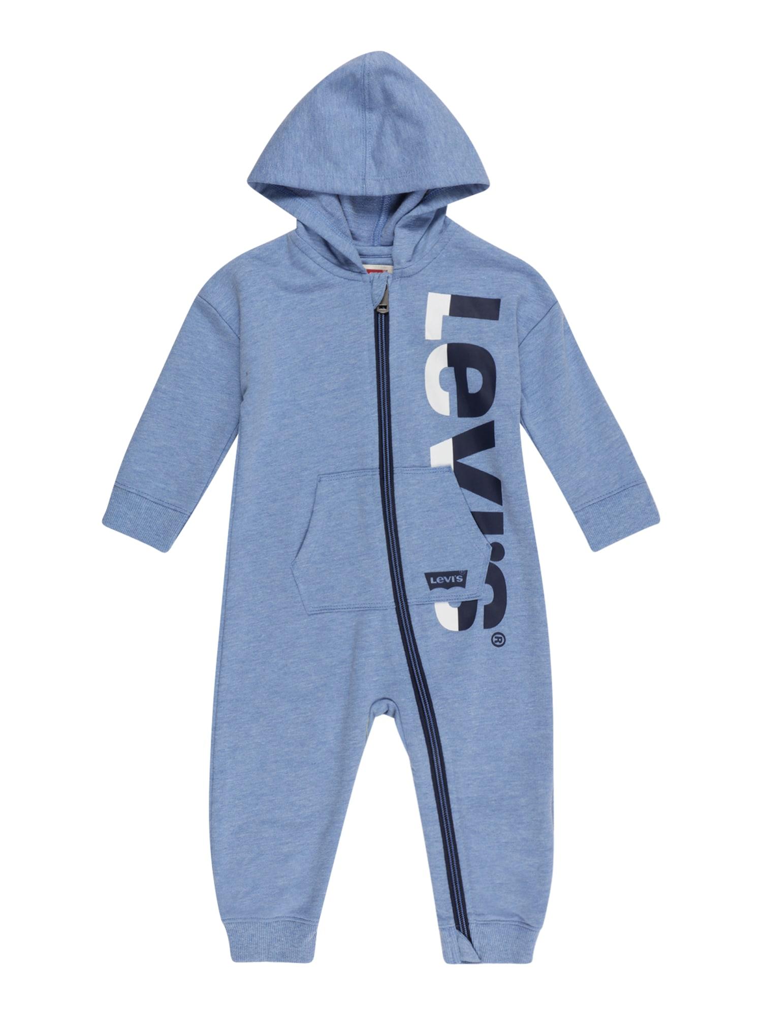 LEVI'S Overal 'PLAY ALL DAY'  kouřově modrá / marine modrá / bílá