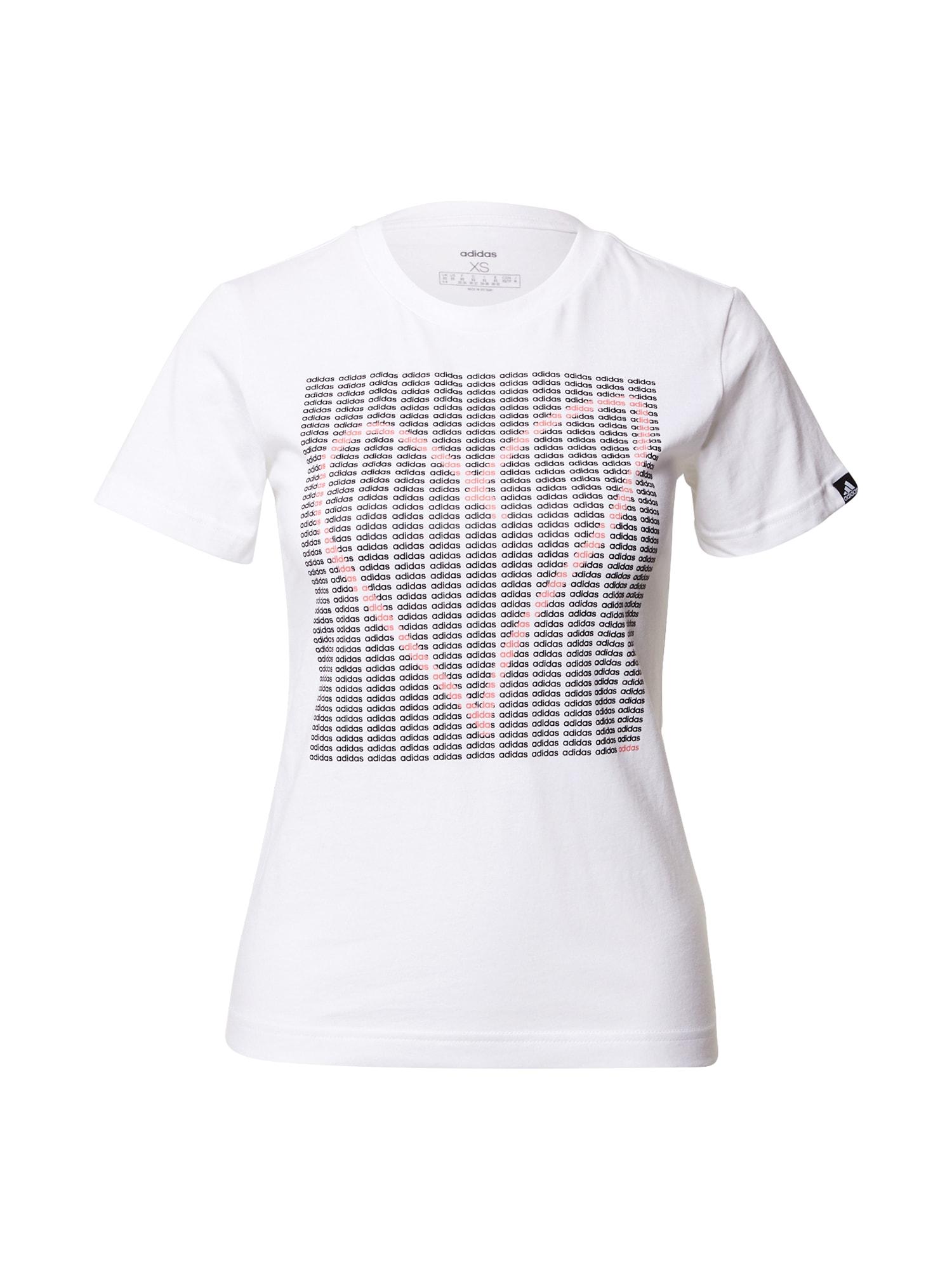 ADIDAS PERFORMANCE Funkční tričko 'Heart'  bílá