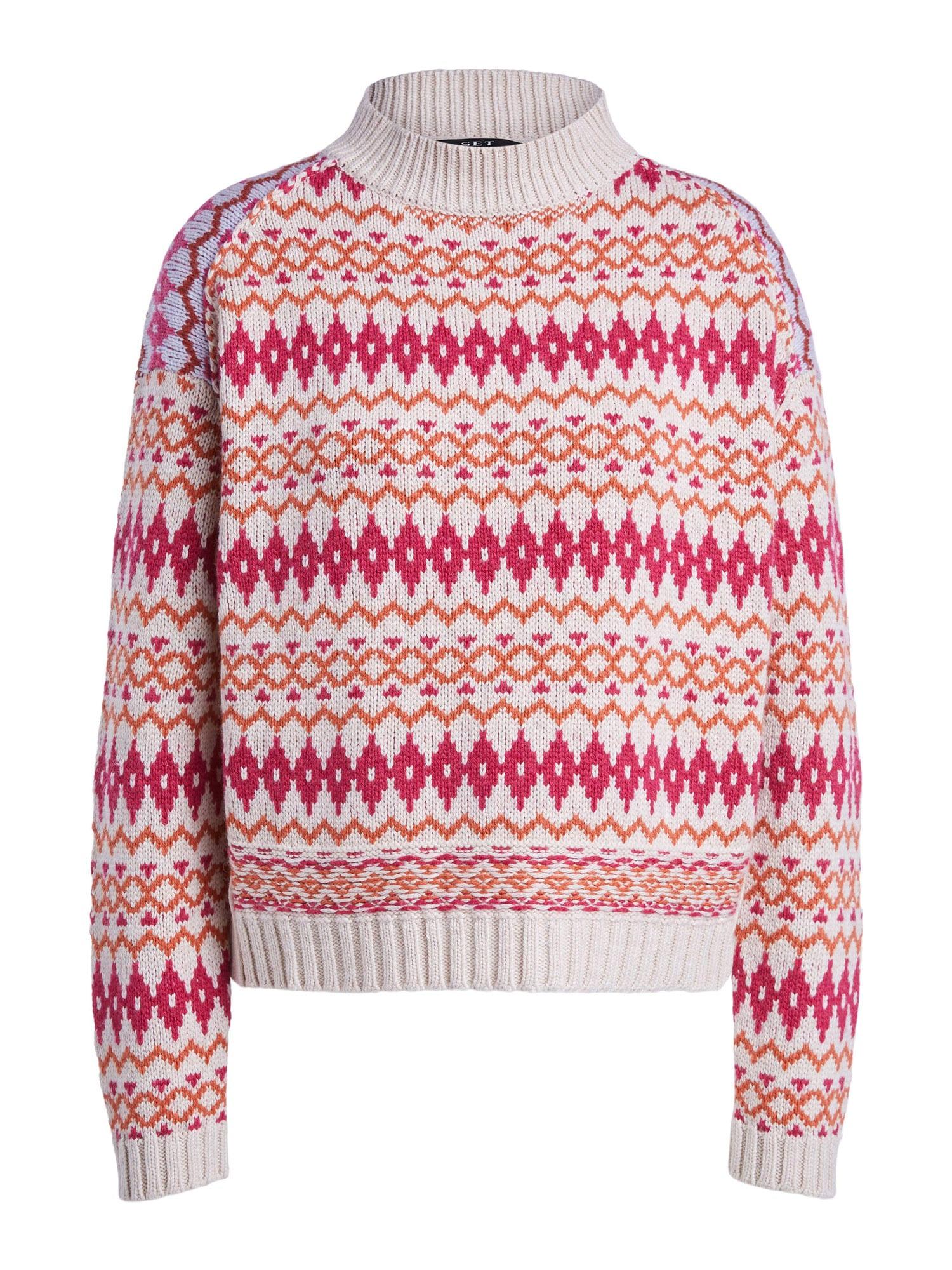 SET Megztinis balta / oranžinė / rožinė