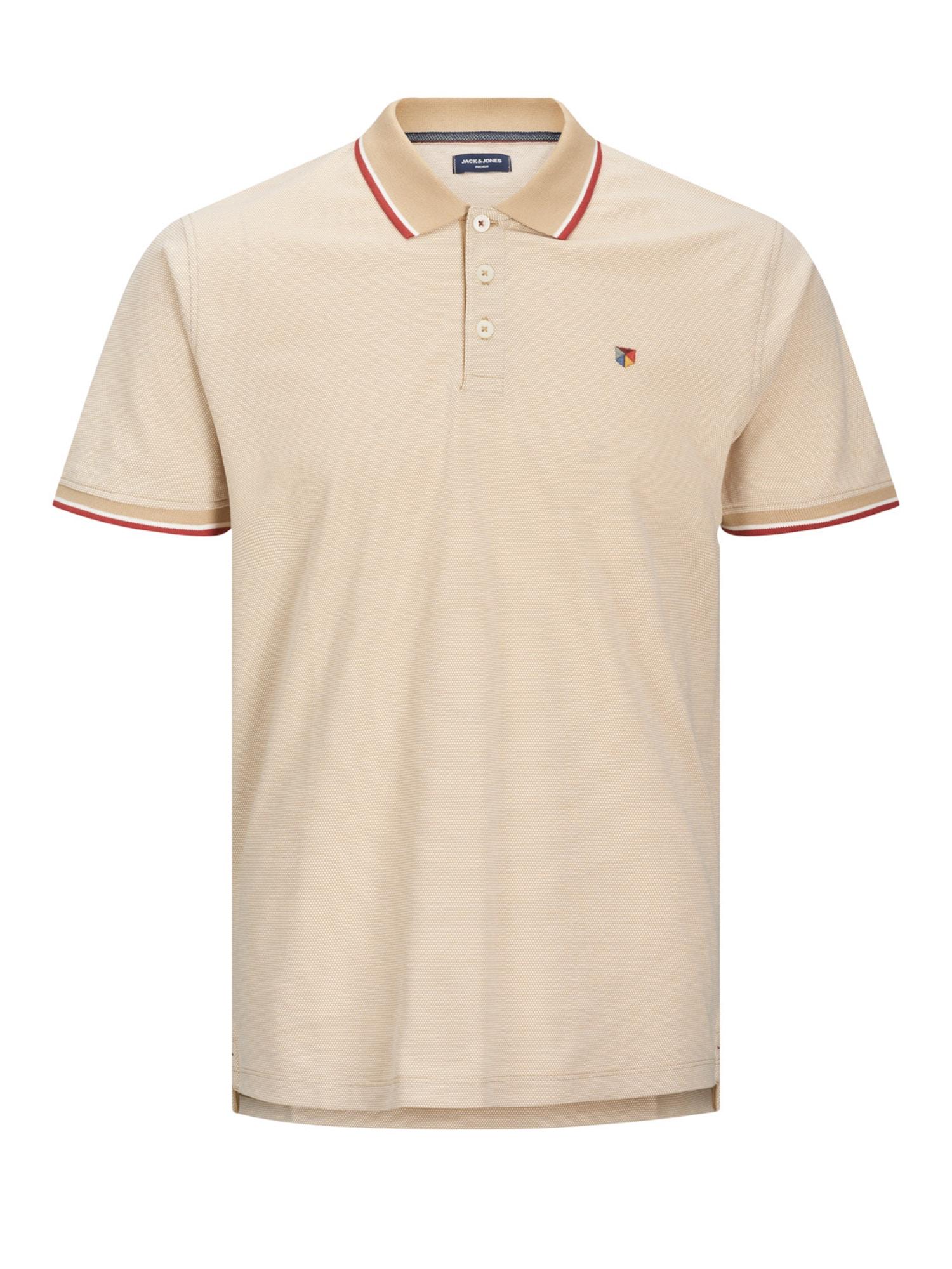 JACK & JONES Marškinėliai šviesiai ruda