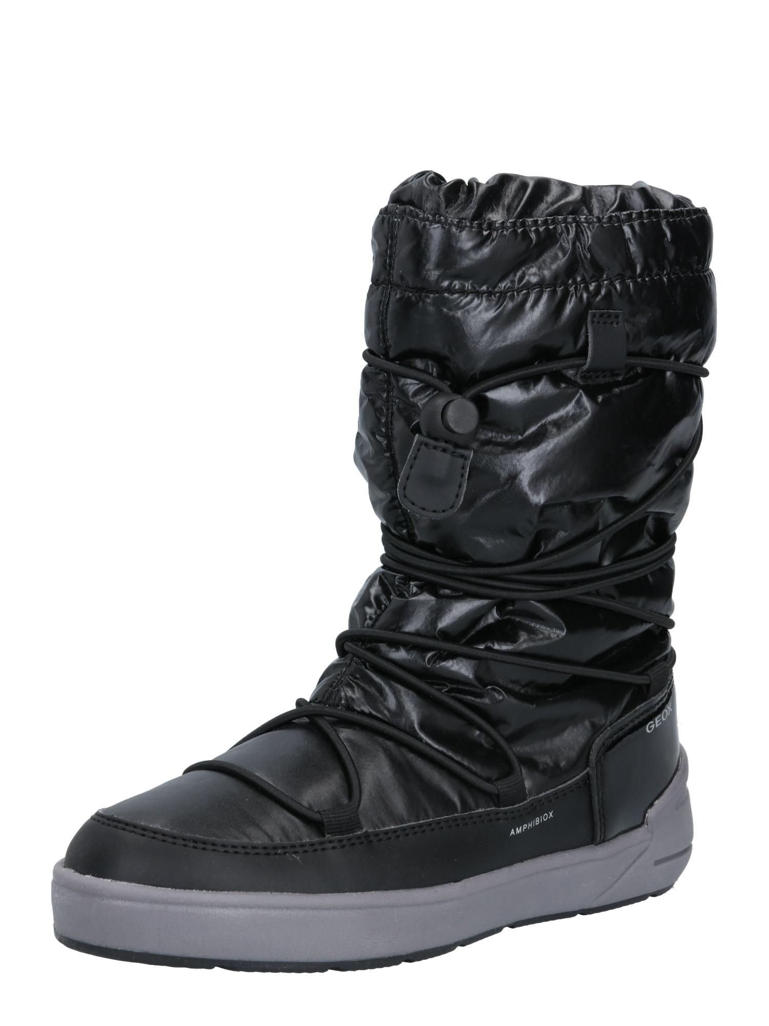 GEOX Auliniai batai su kulniuku 'Sleigh' juoda