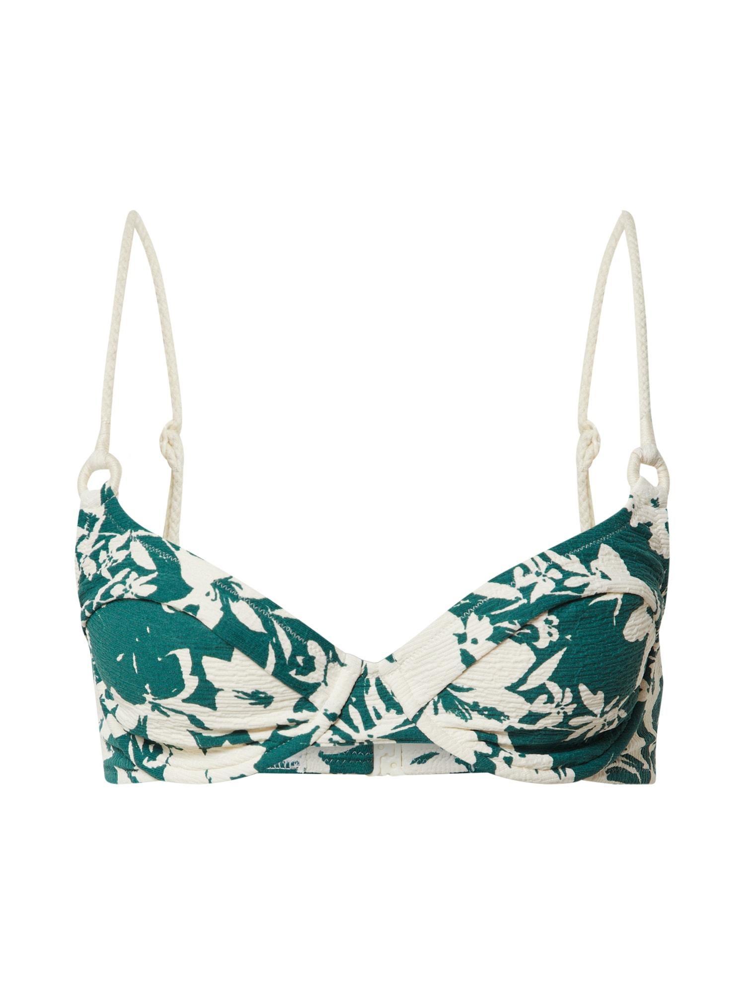 watercult Bikinio viršutinė dalis balta / smaragdinė spalva