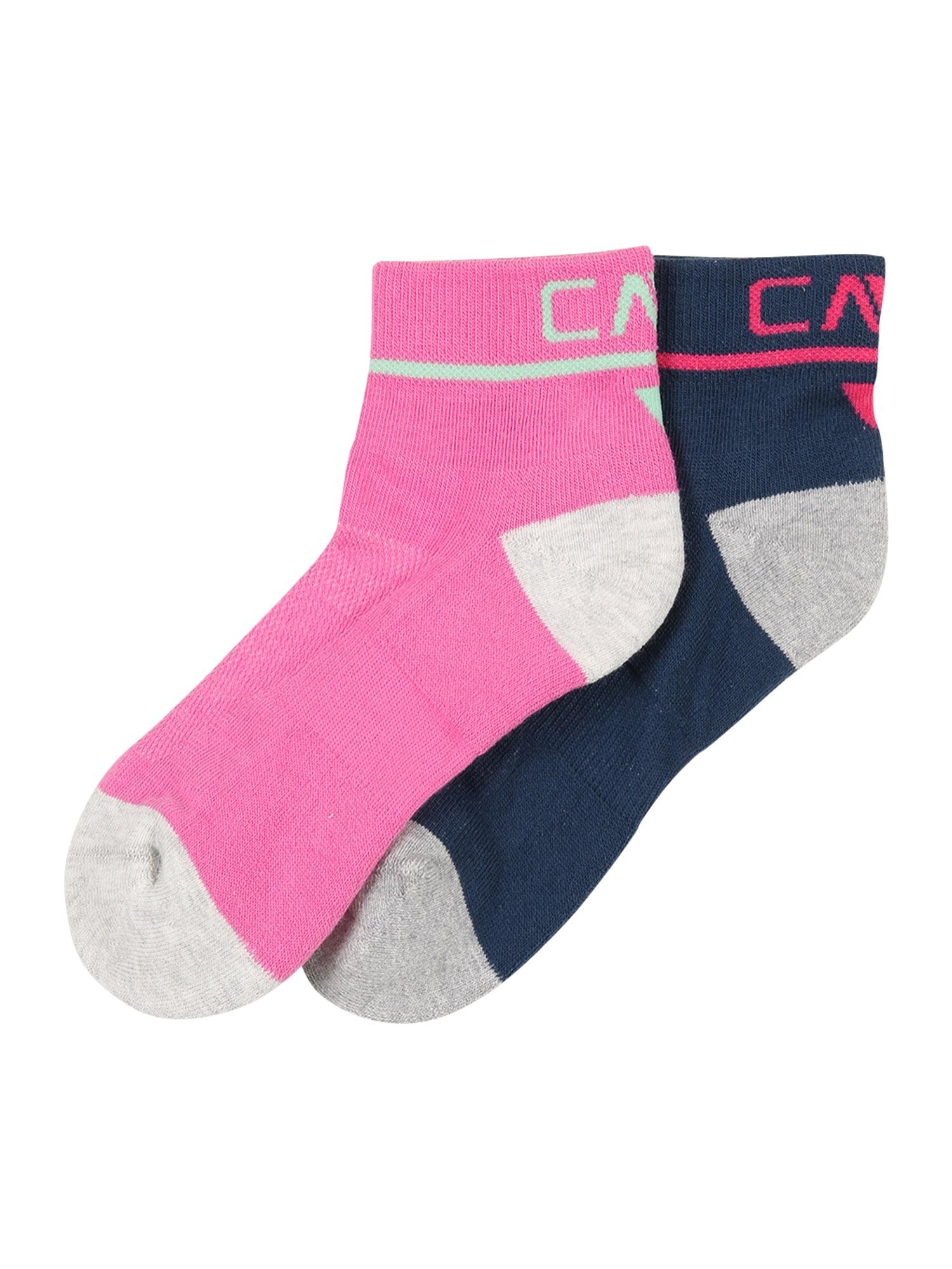 CMP Kojinės tamsiai mėlyna jūros spalva / rožinė / pilka