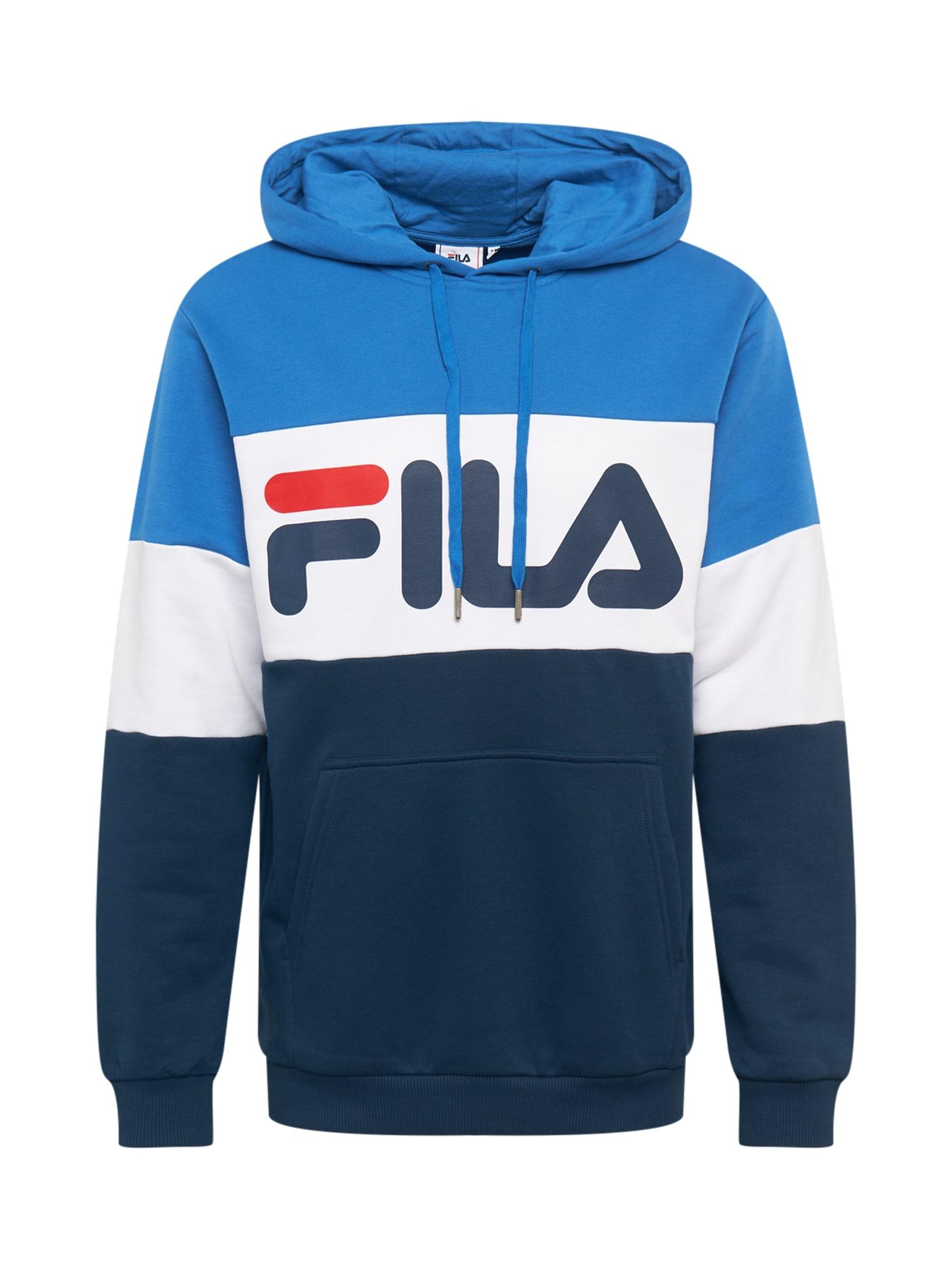 FILA Megztinis be užsegimo mėlyna / tamsiai mėlyna / balta