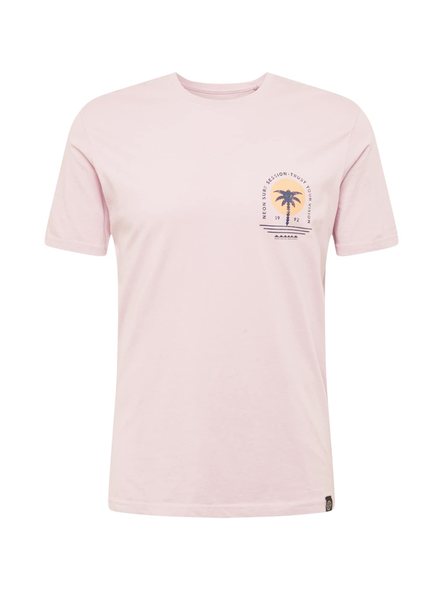 SHINE ORIGINAL Marškinėliai melsvai pilka / oranžinė / šviesiai violetinė