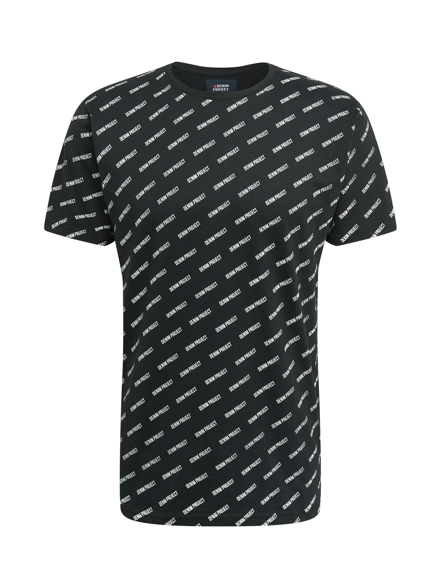 Denim Project Marškinėliai juoda / balta