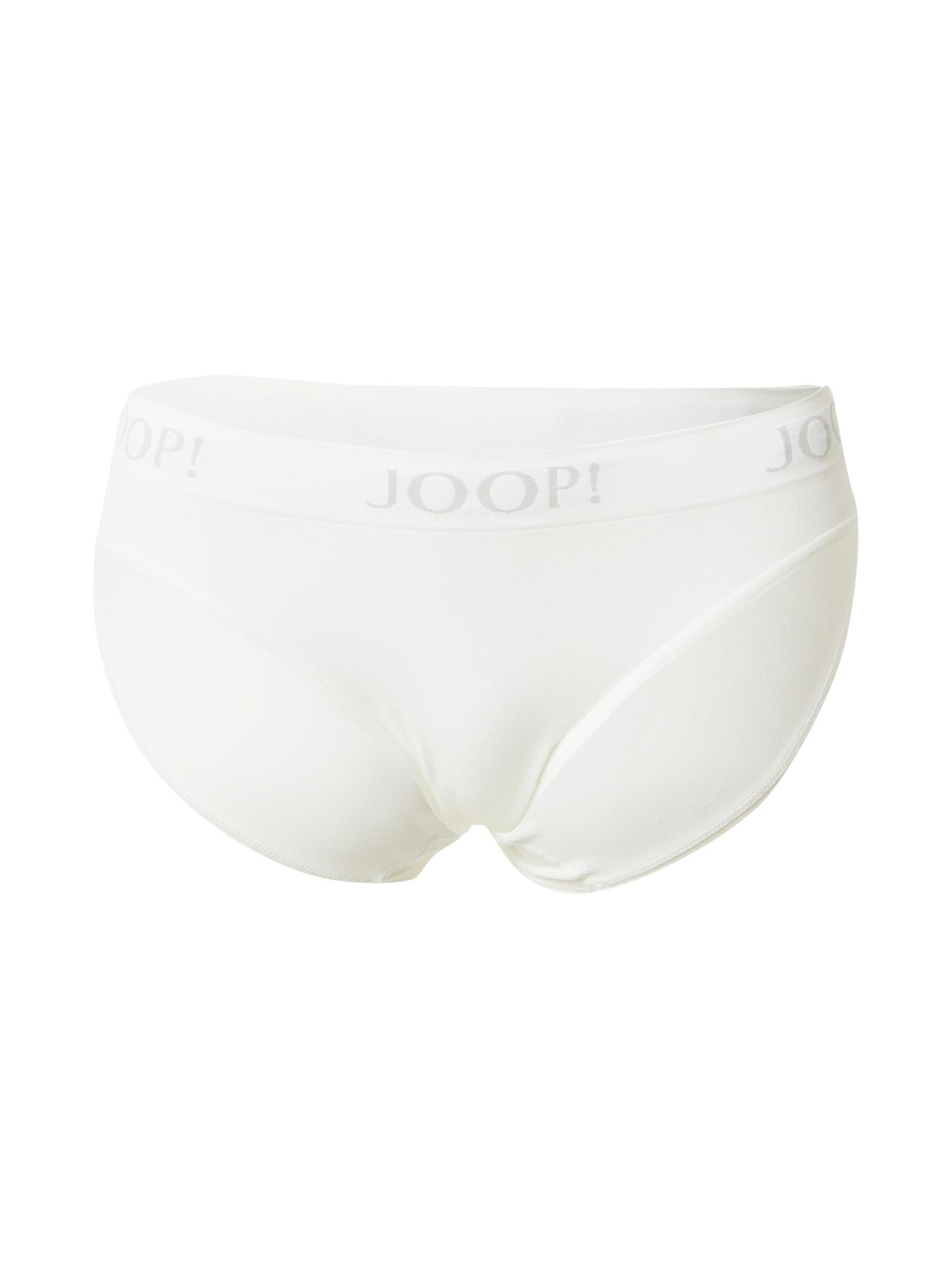 JOOP! Bodywear Moteriškos kelnaitės pilka / nebalintos drobės spalva