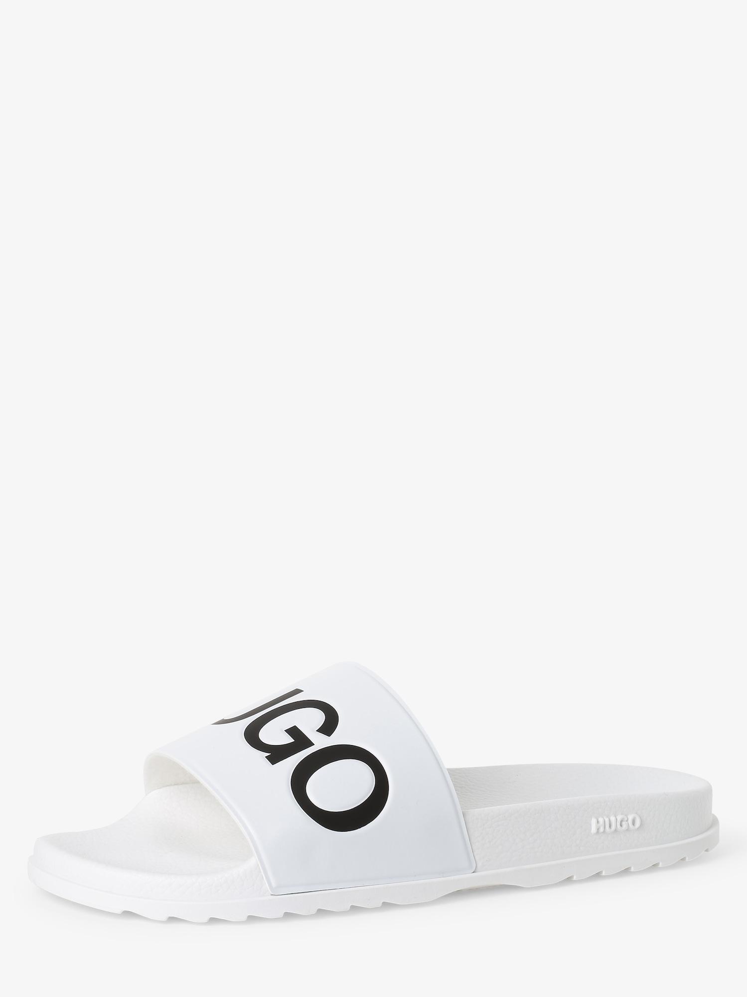 HUGO Pantofle 'Match_Slid_rblg'  bílá / černá