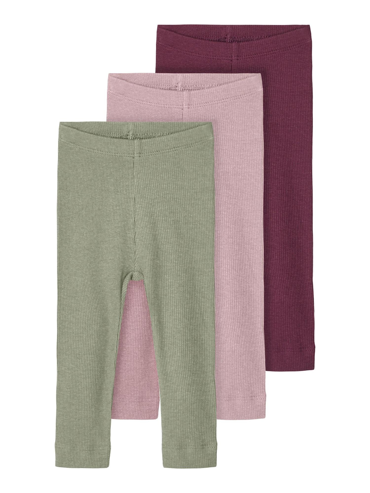 NAME IT Tamprės 'ROSEMARIE' pastelinė žalia / uogų spalva / purpurinė