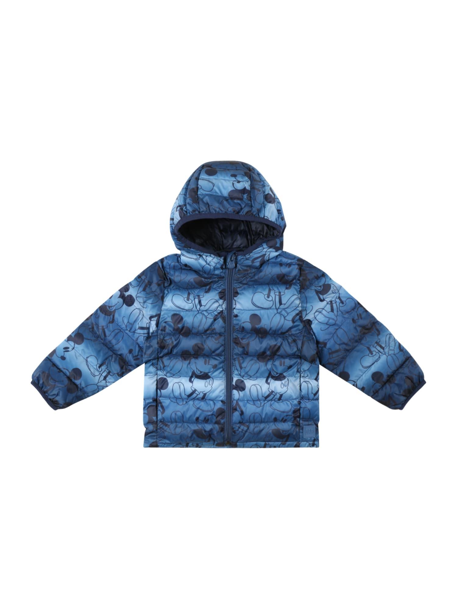 GAP Demisezoninė striukė tamsiai mėlyna / mėlyna dūmų spalva / šviesiai mėlyna