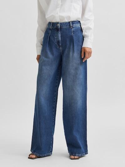 Jeans med lægfolder 'Jenni'