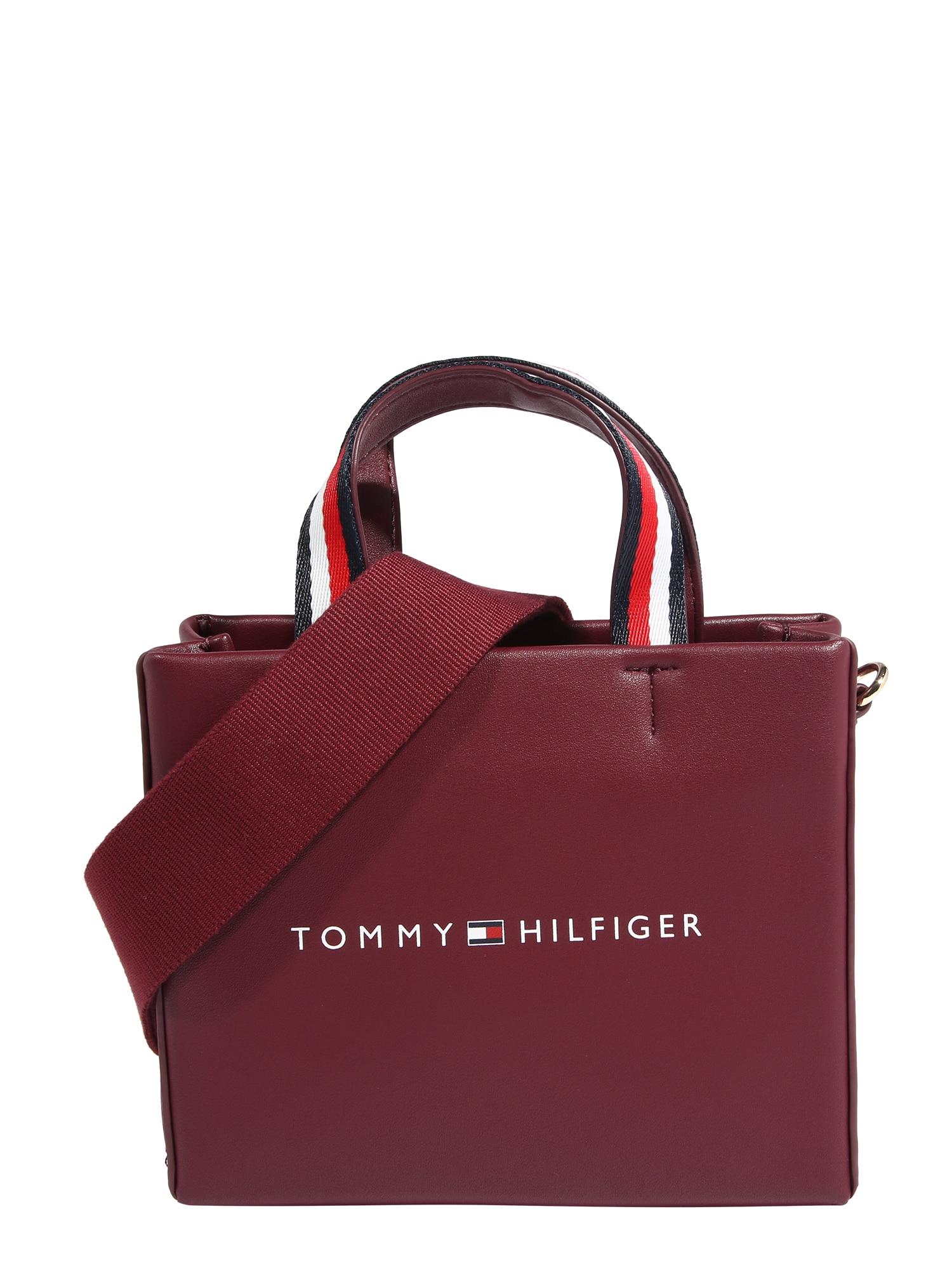 TOMMY HILFIGER Nákupní taška  tmavě červená