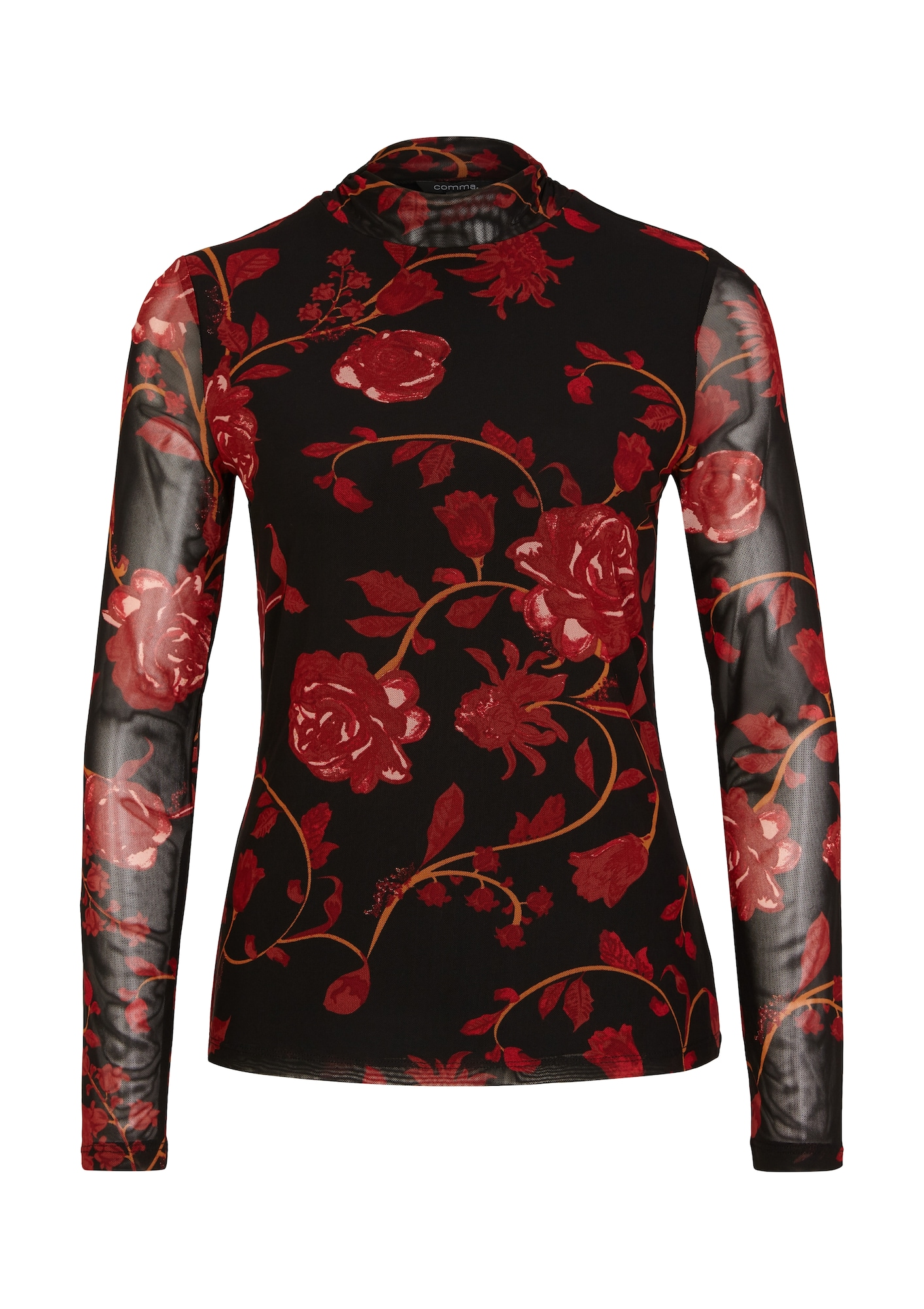 COMMA Marškinėliai raudona / juoda