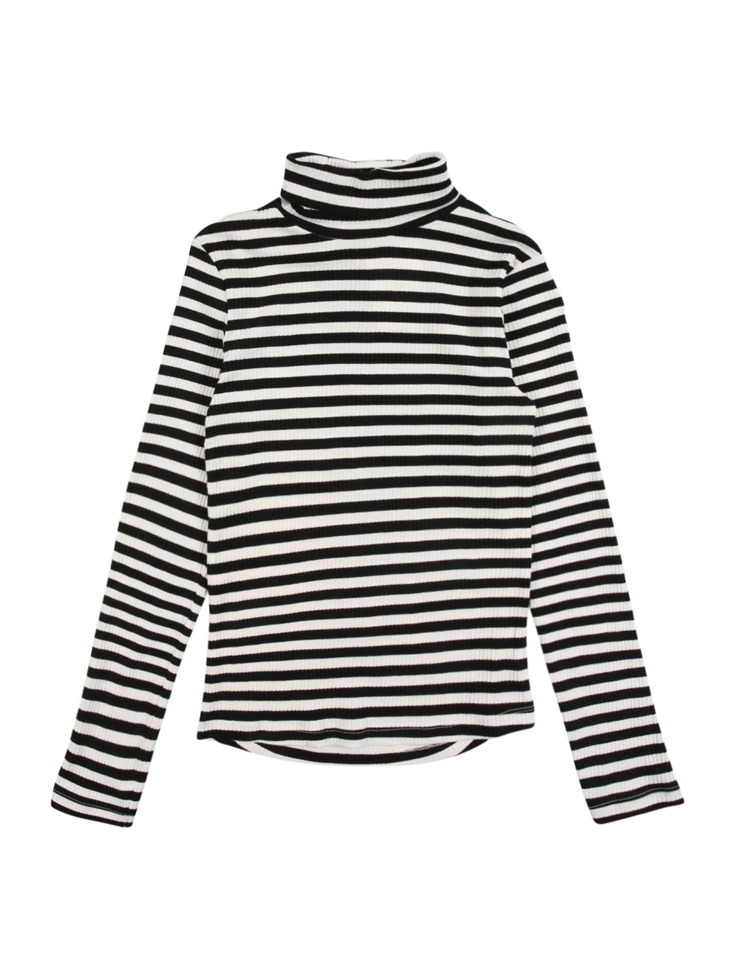 NAME IT Tričko 'VEMMA'  bílá / černá