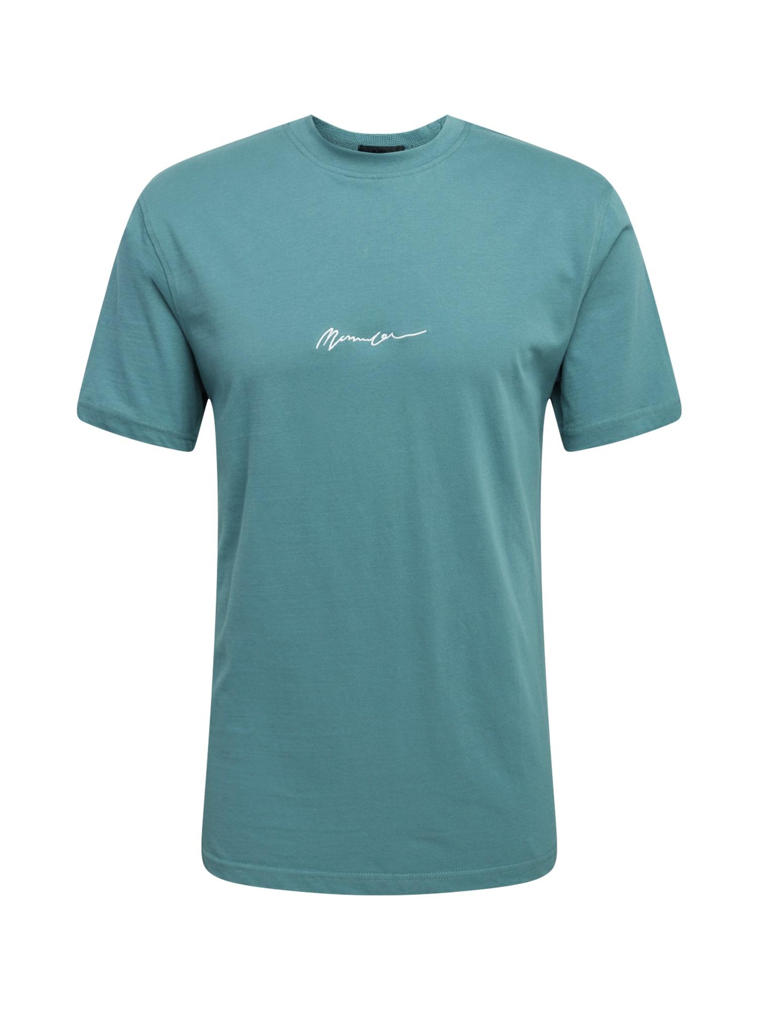 Mennace Marškinėliai nefrito spalva / balta