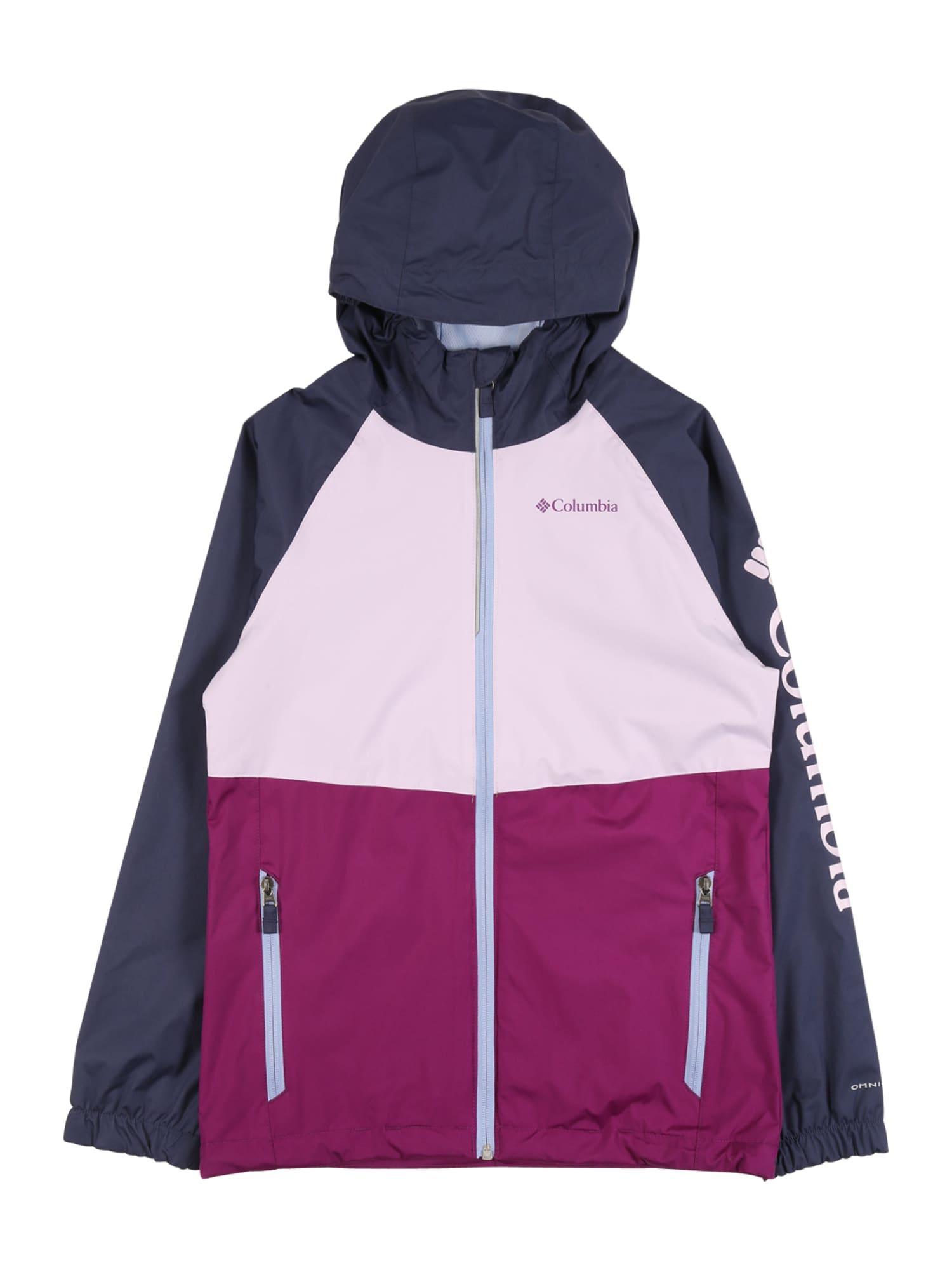 COLUMBIA Laisvalaikio striukė 'Dalby Springs' mišrios spalvos / eozino spalva / tamsiai mėlyna / pastelinė rožinė / balta