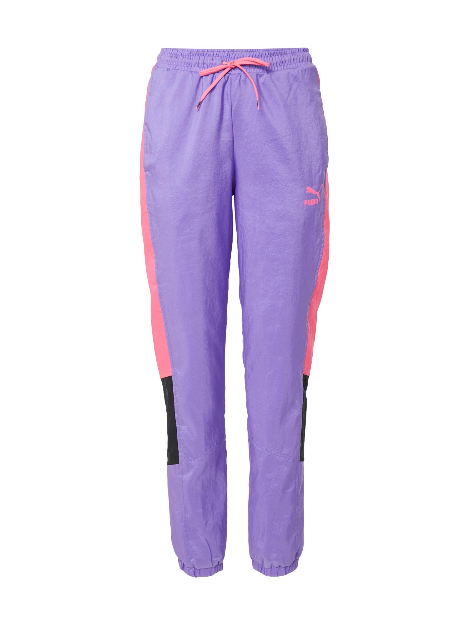 PUMA Nohavice 'Tailored for Sport OG'  ružová / čierna / fialová
