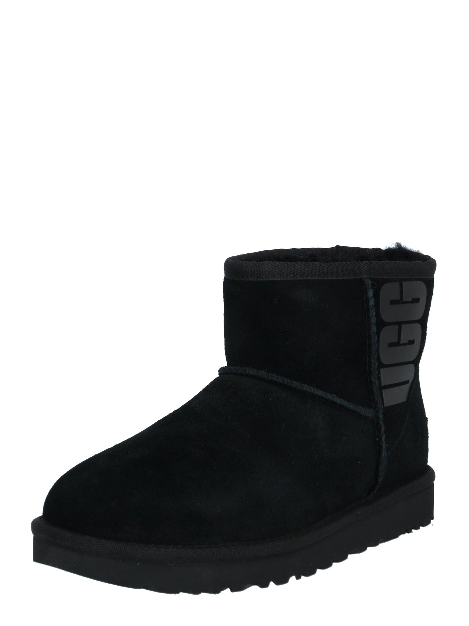 UGG Sniego batai juoda / pilka
