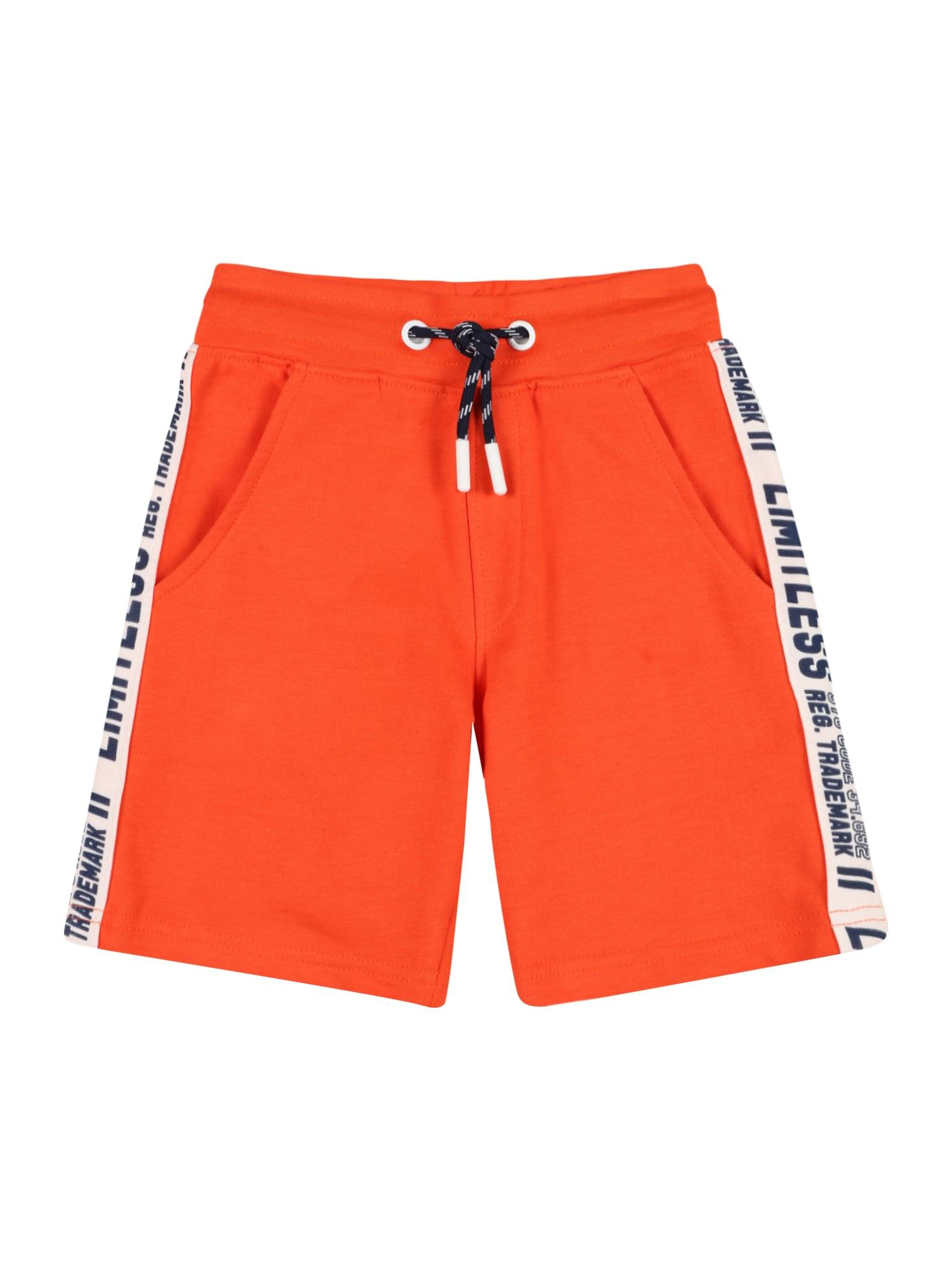 STACCATO Kelnės oranžinė-raudona / balta / tamsiai mėlyna