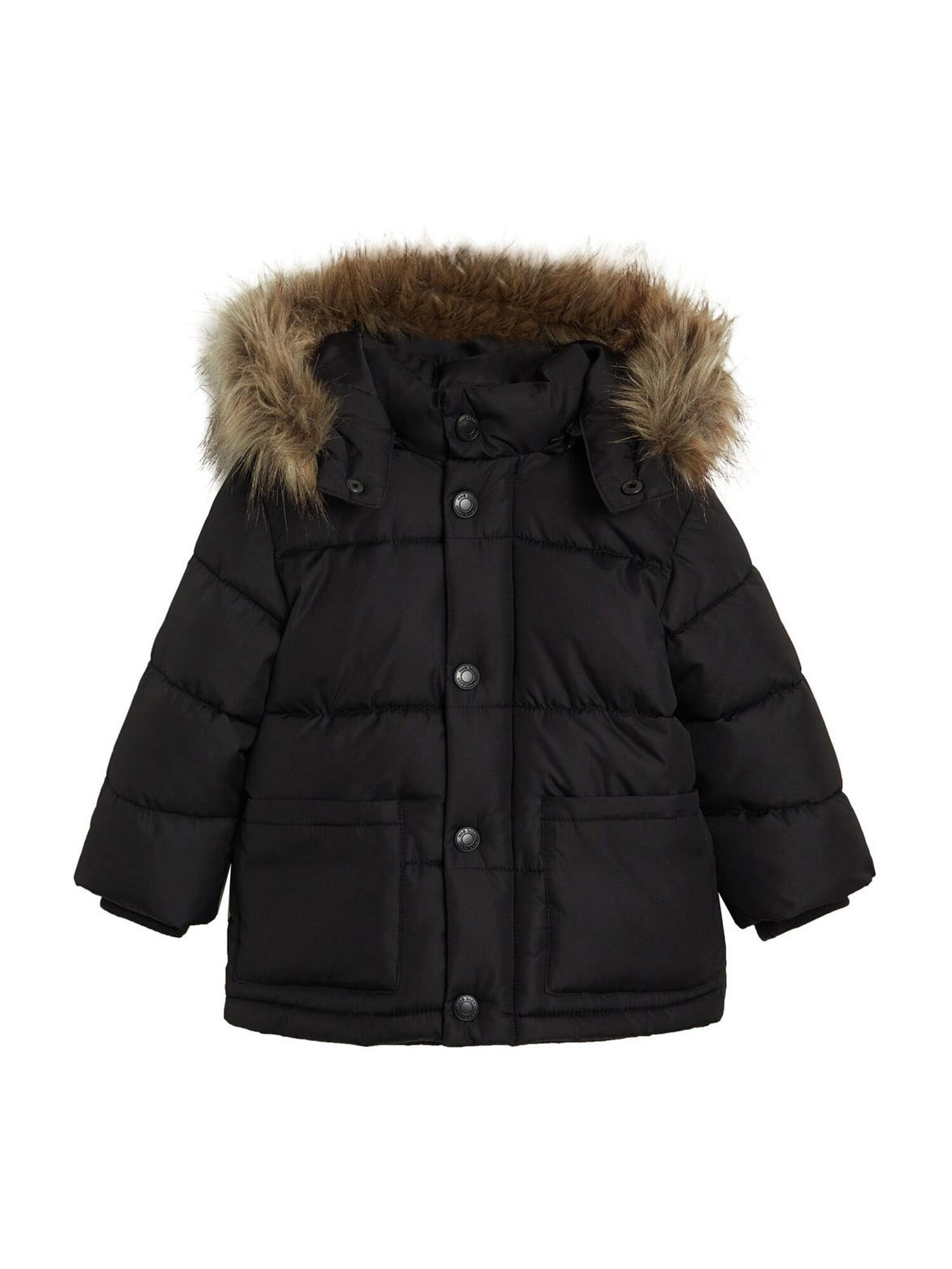 MANGO KIDS Zimní bunda 'Luca'  černá
