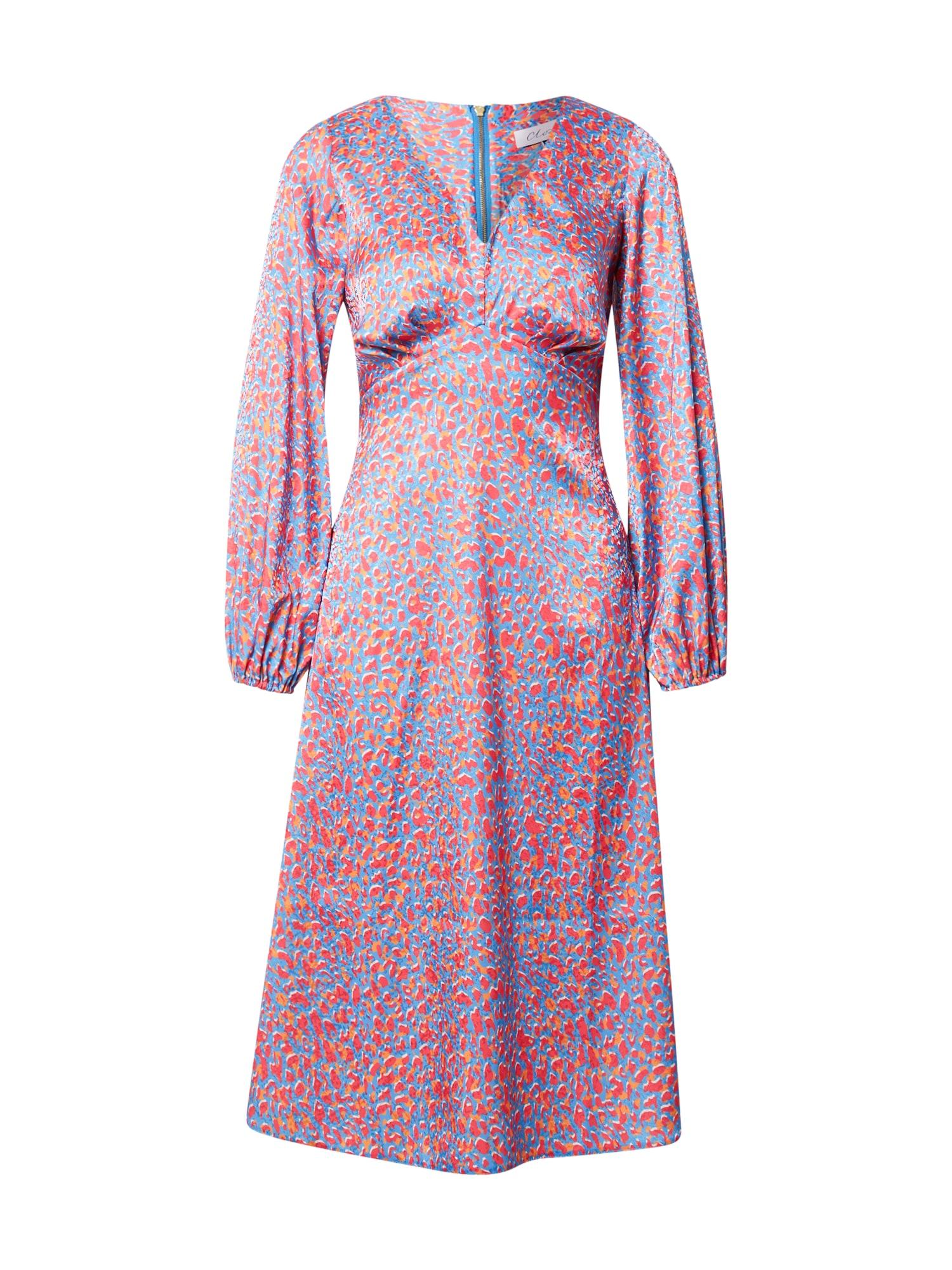 Closet London Suknelė mėlyna / tamsiai geltona / šviesiai rožinė