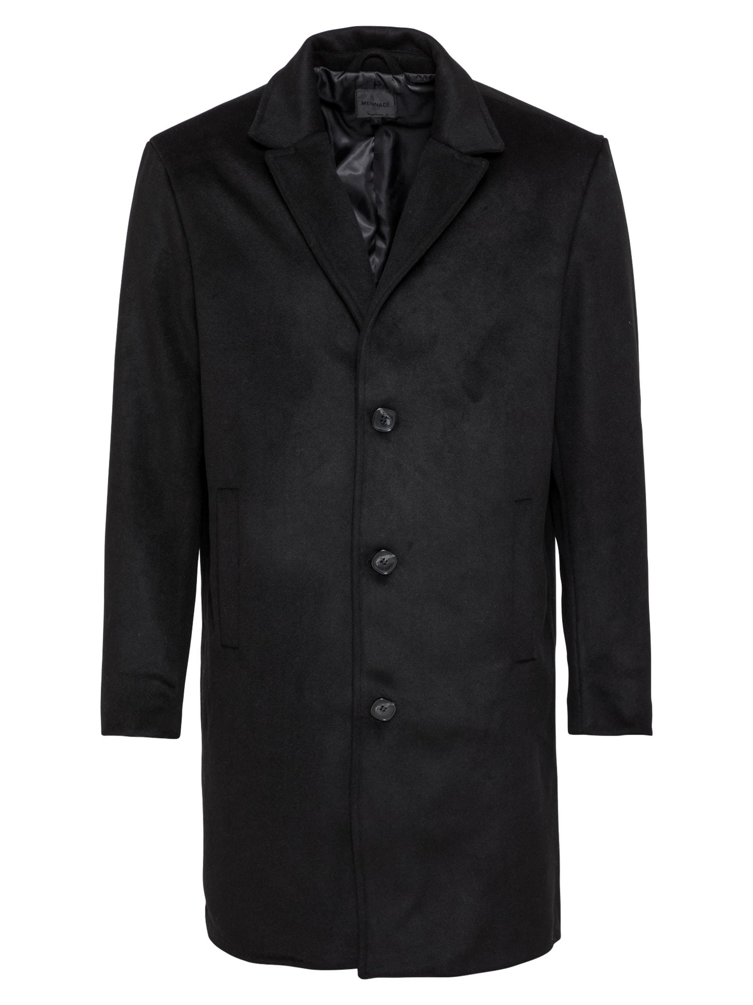 Mennace Demisezoninis paltas juoda