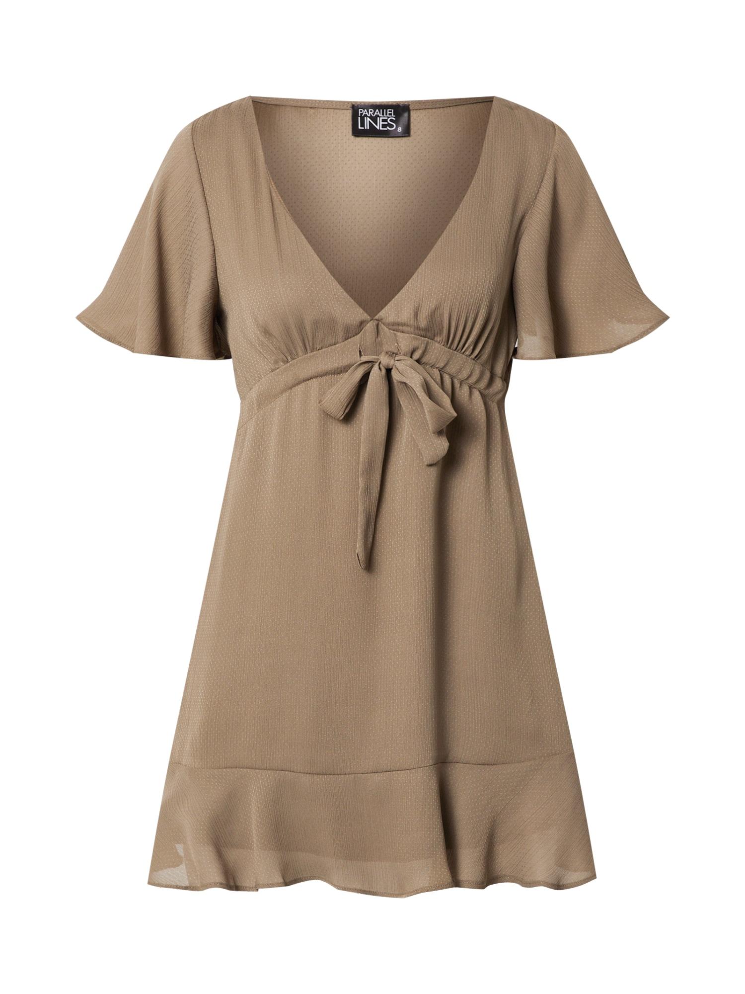 Parallel Lines Vasarinė suknelė alyvuogių spalva