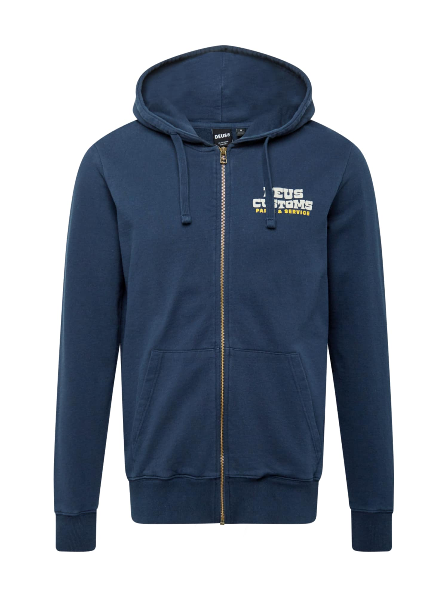 DEUS EX MACHINA Džemperis tamsiai mėlyna jūros spalva / balta / geltona