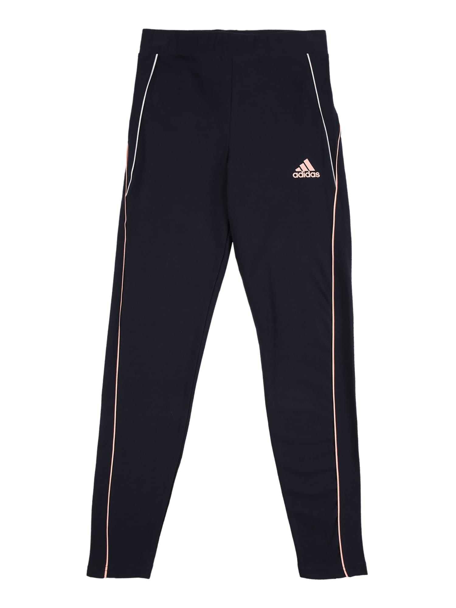 ADIDAS PERFORMANCE Sportovní kalhoty  námořnická modř / pastelově růžová / bílá