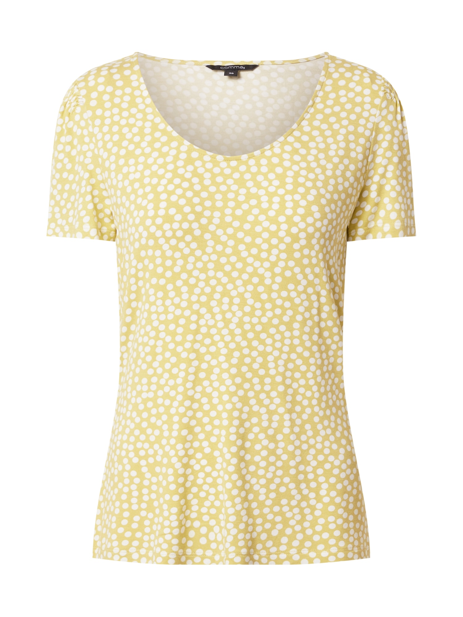 COMMA Marškinėliai geltona / balta