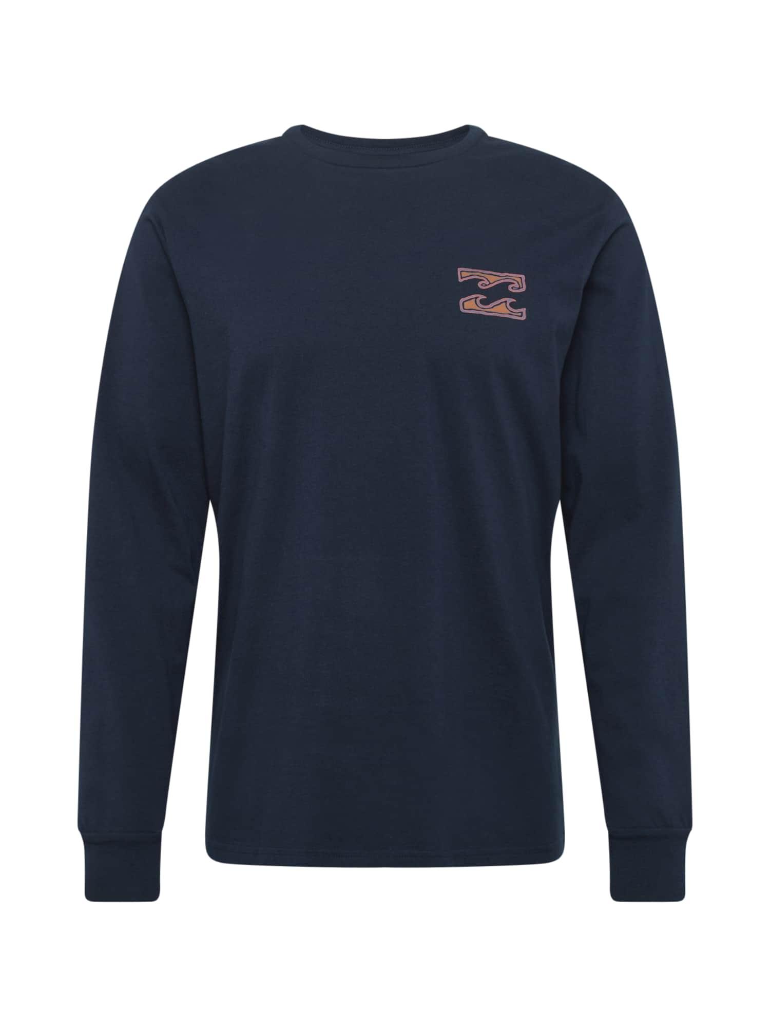 BILLABONG Marškinėliai tamsiai mėlyna / oranžinė / mėlyna dūmų spalva