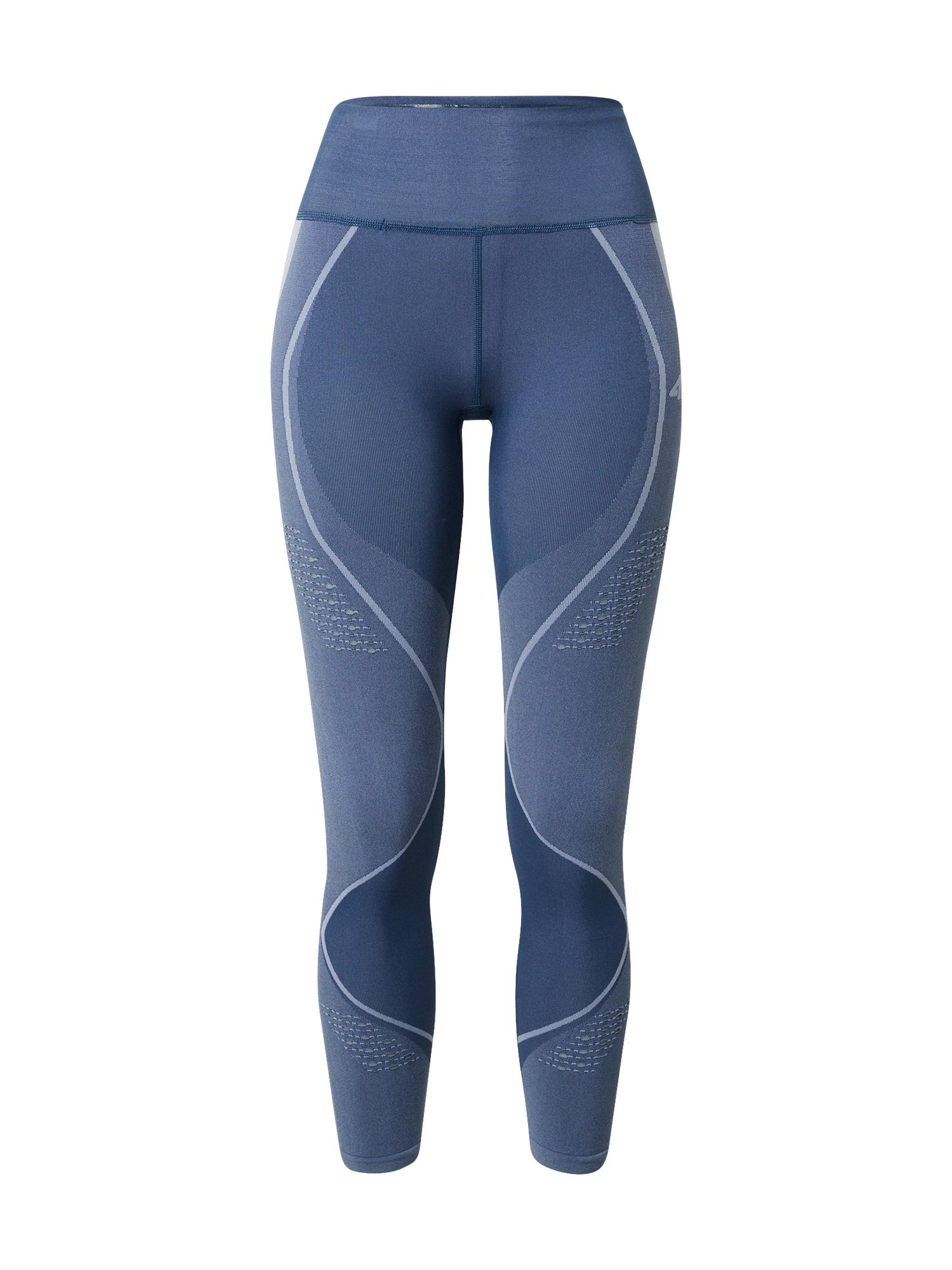 4F Sportinės kelnės mėlyna / melsvai pilka