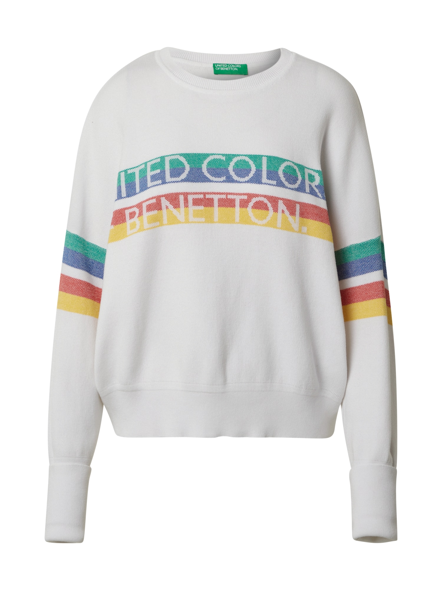 UNITED COLORS OF BENETTON Svetr  bílá / mix barev