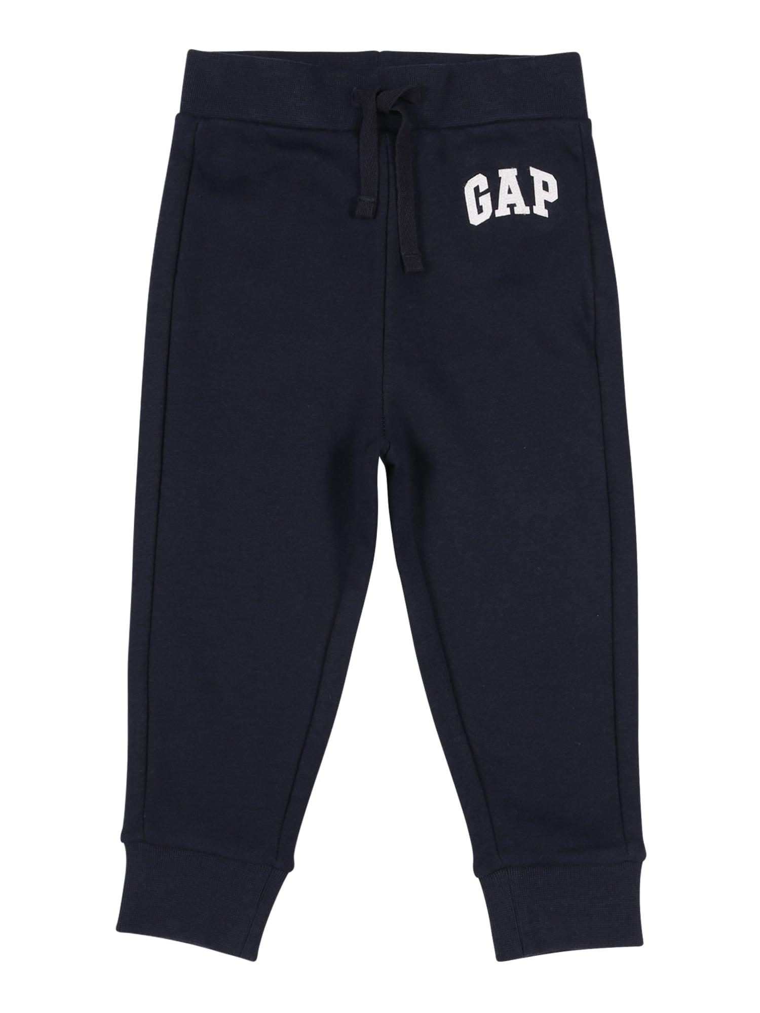 GAP Kalhoty 'FRANCH'  tmavě modrá / bílá
