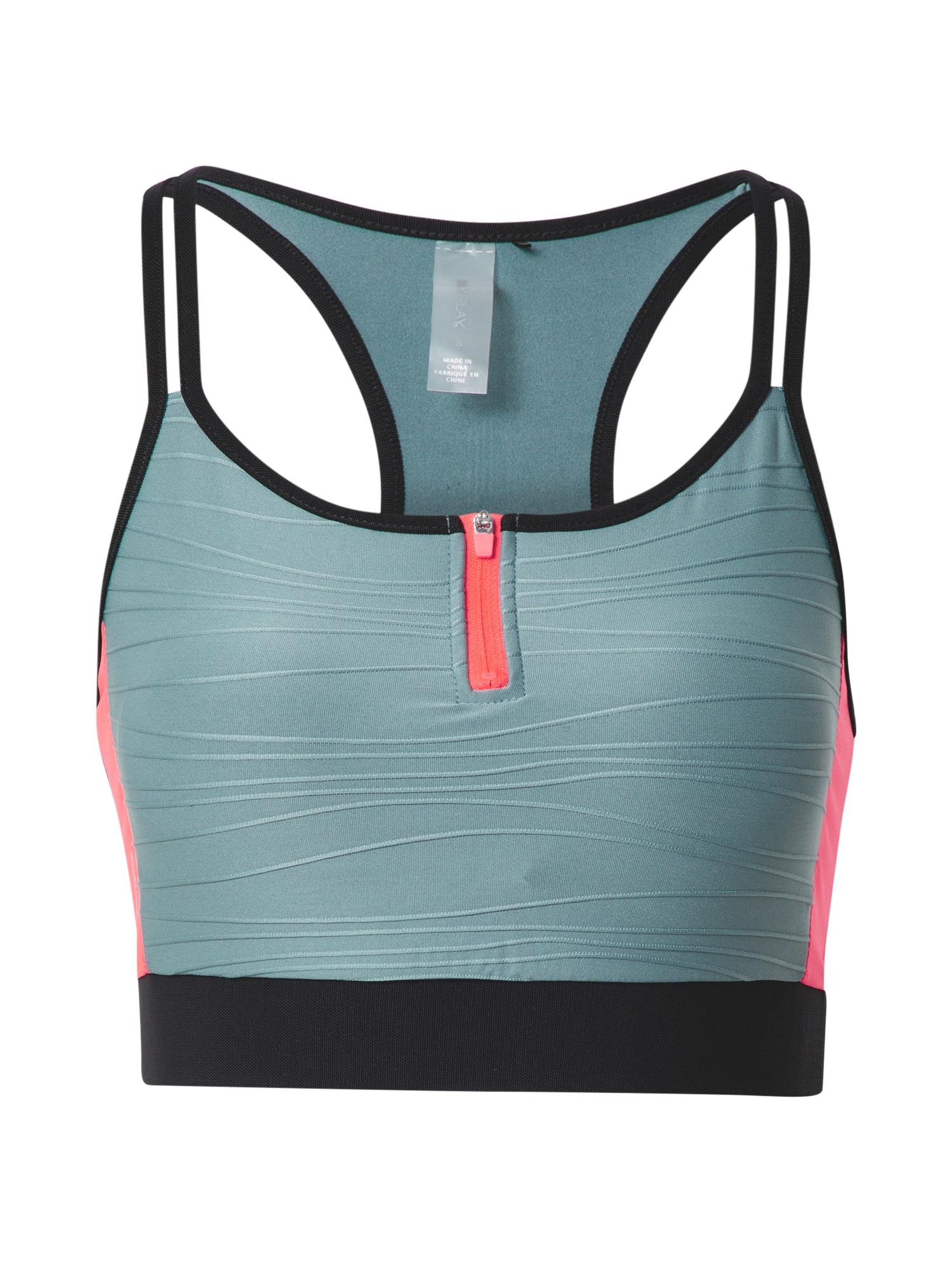 ONLY PLAY Sportinė liemenėlė juoda / rožinė / pastelinė mėlyna
