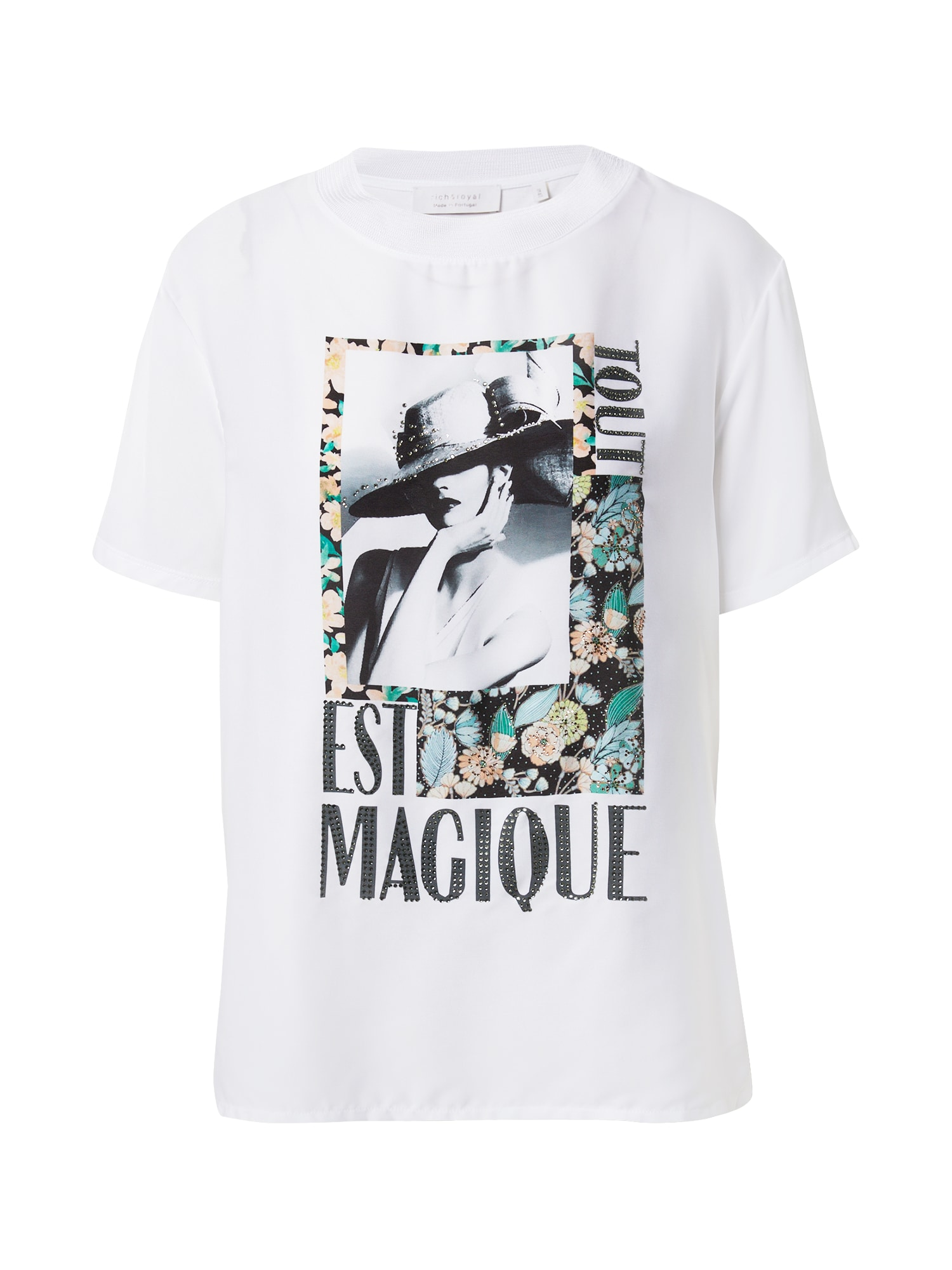 Rich & Royal Marškinėliai balta / mišrios spalvos
