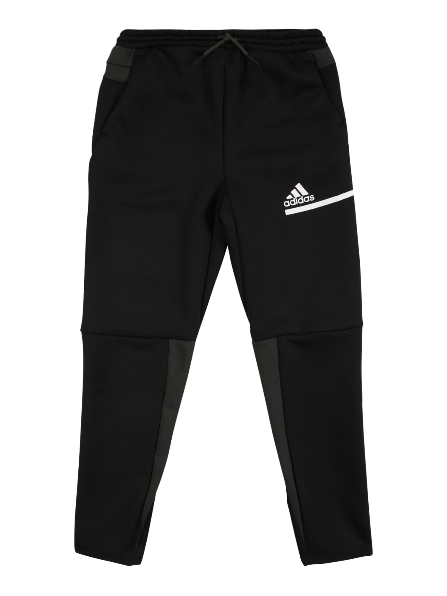 ADIDAS PERFORMANCE Sportovní kalhoty  černá / olivová