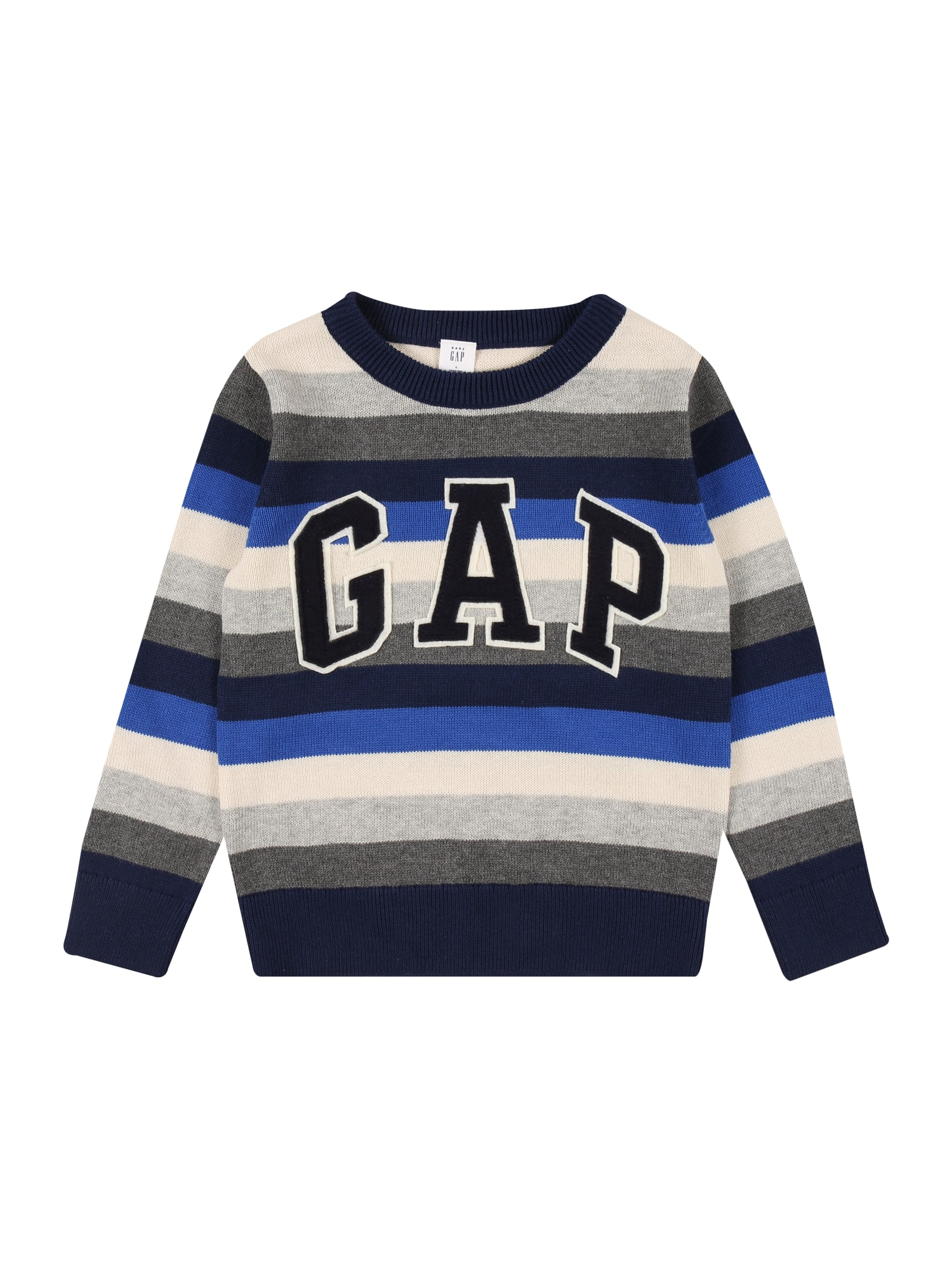 GAP Megztinis mėlyna / tamsiai mėlyna / balta / margai pilka / tamsiai pilka
