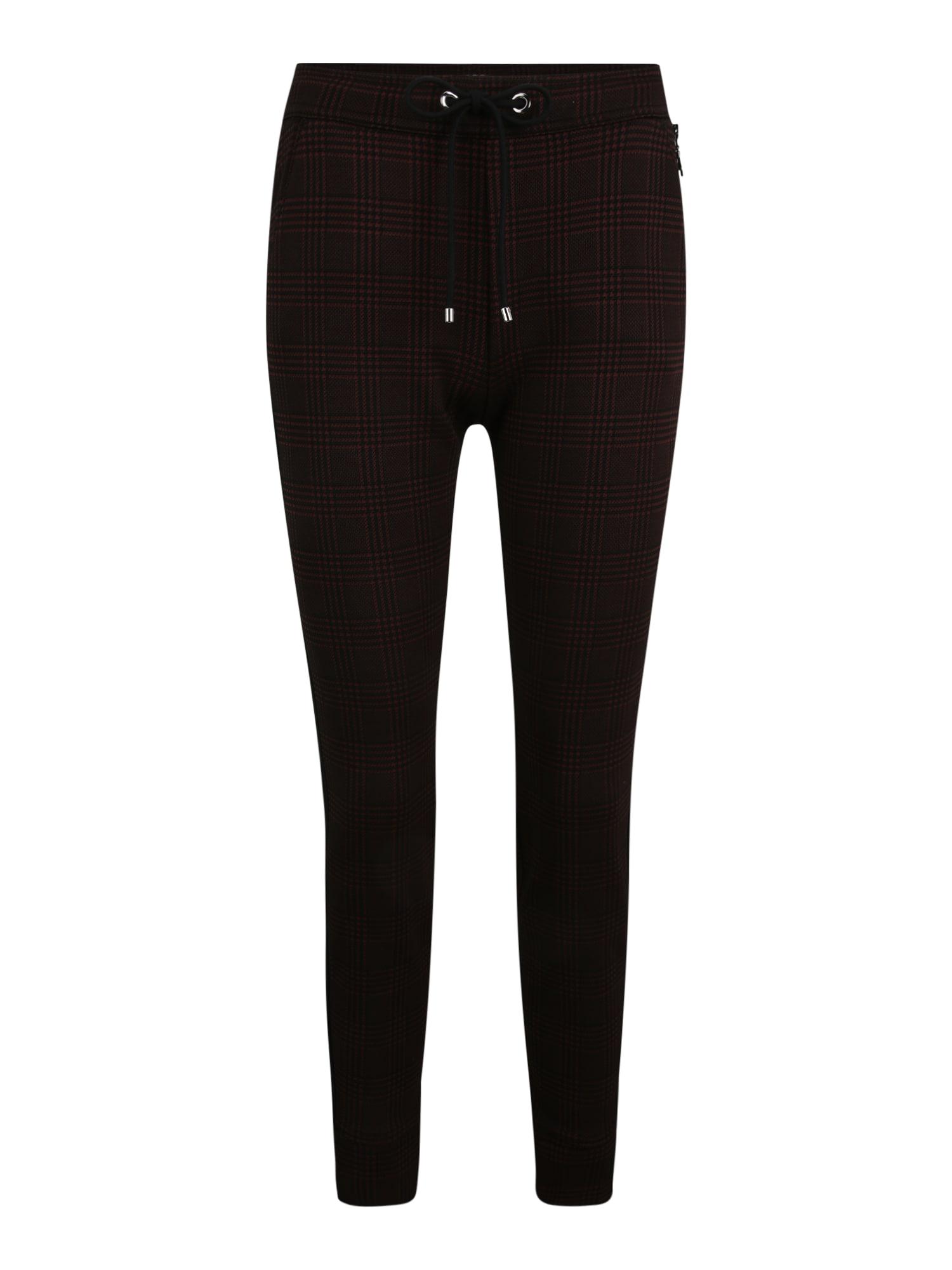 MAC Sportovní kalhoty  hnědá / černá