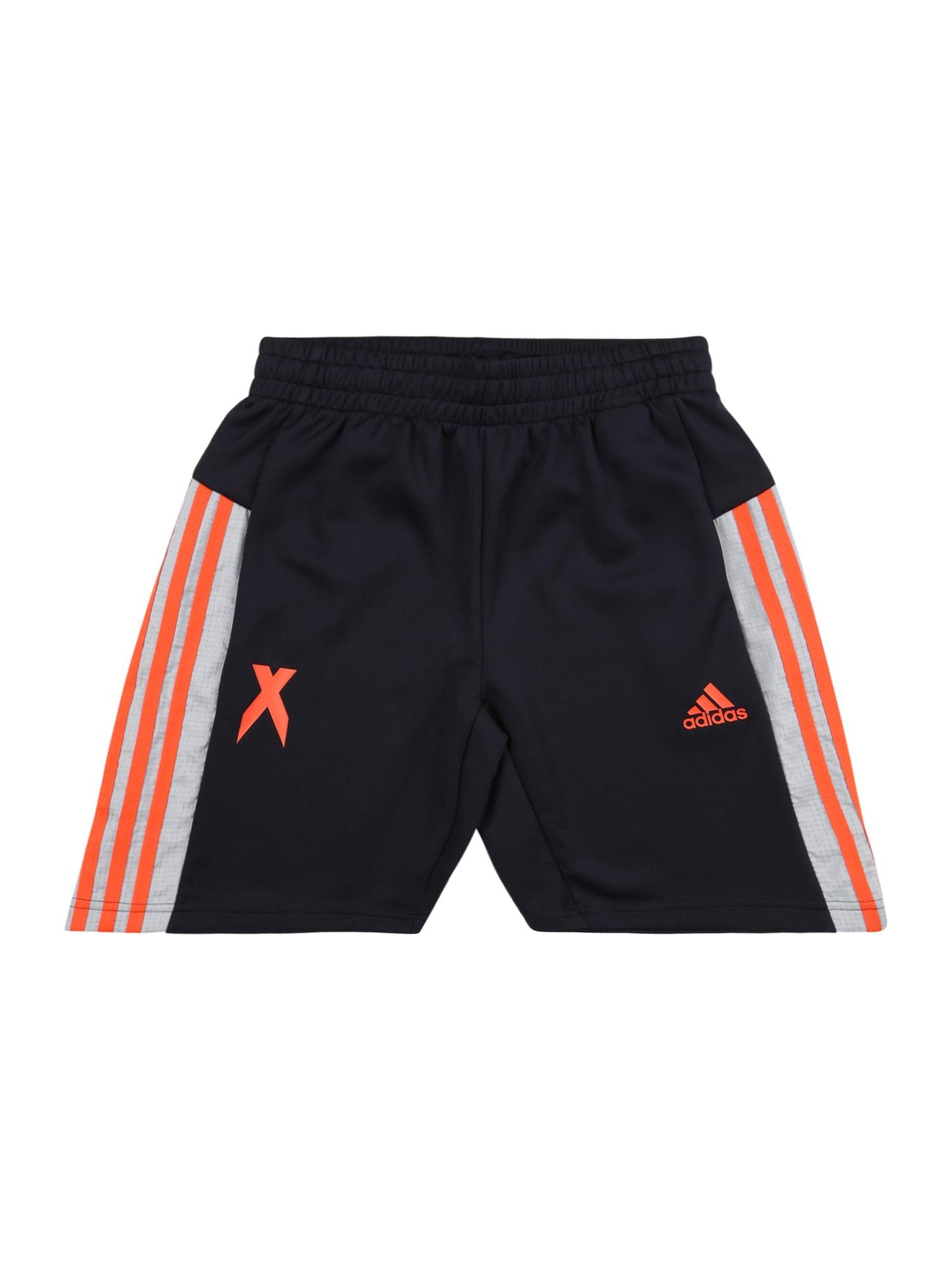 ADIDAS PERFORMANCE Športové nohavice  oranžová / šedobiela / modrá