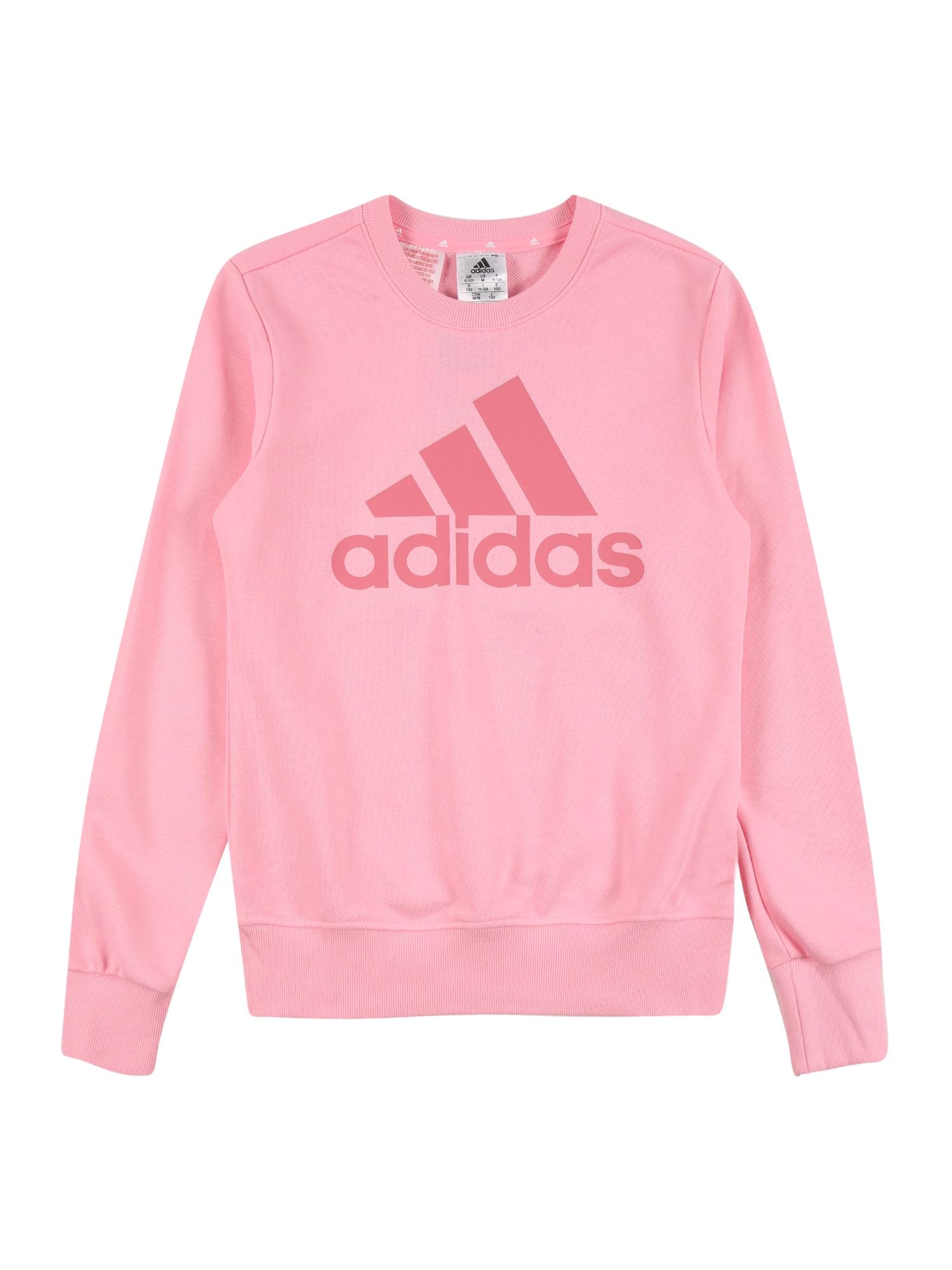 ADIDAS PERFORMANCE Sportinio tipo megztinis šviesiai rožinė / pitajų spalva
