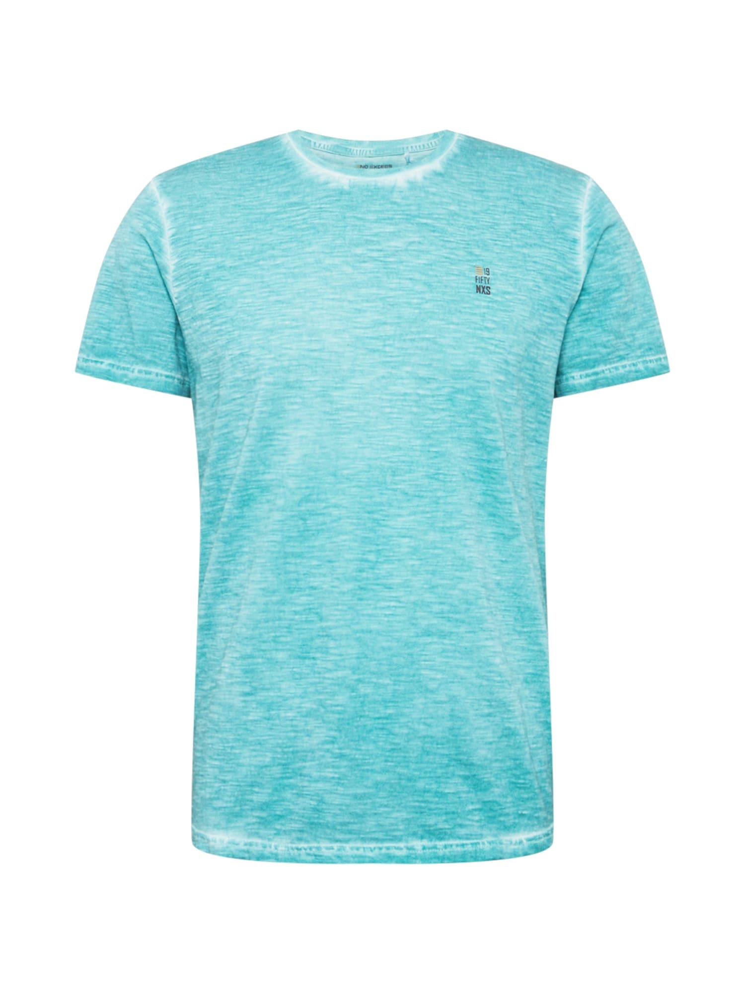 No Excess Marškinėliai turkio spalva / margai balta