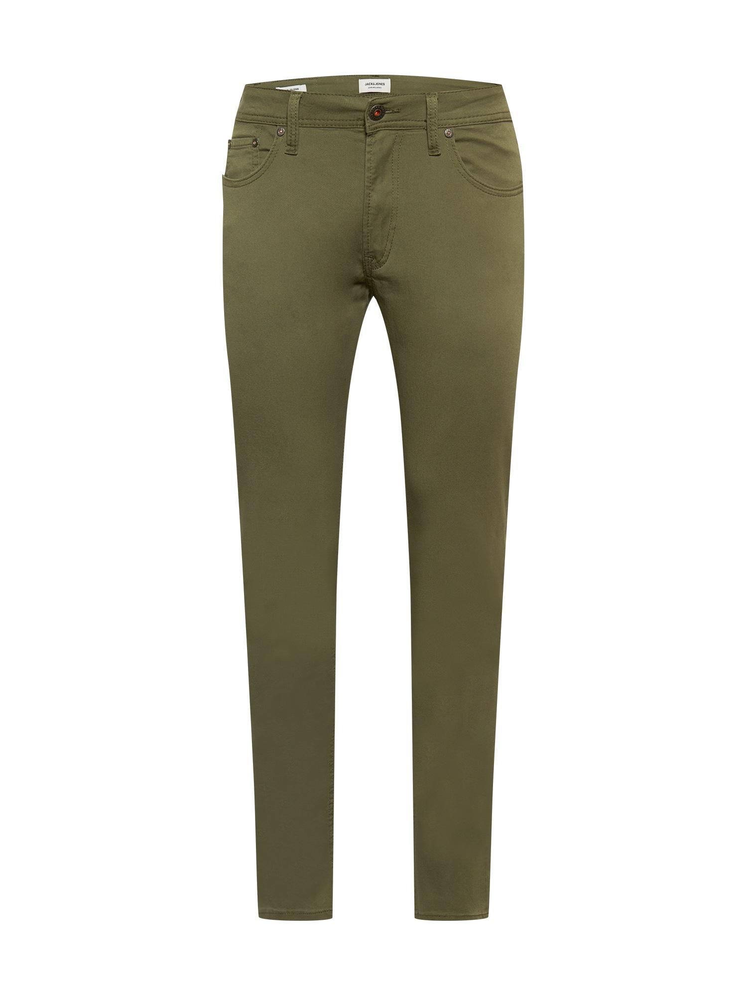 JACK & JONES Chino kalhoty 'GLENN'  olivová