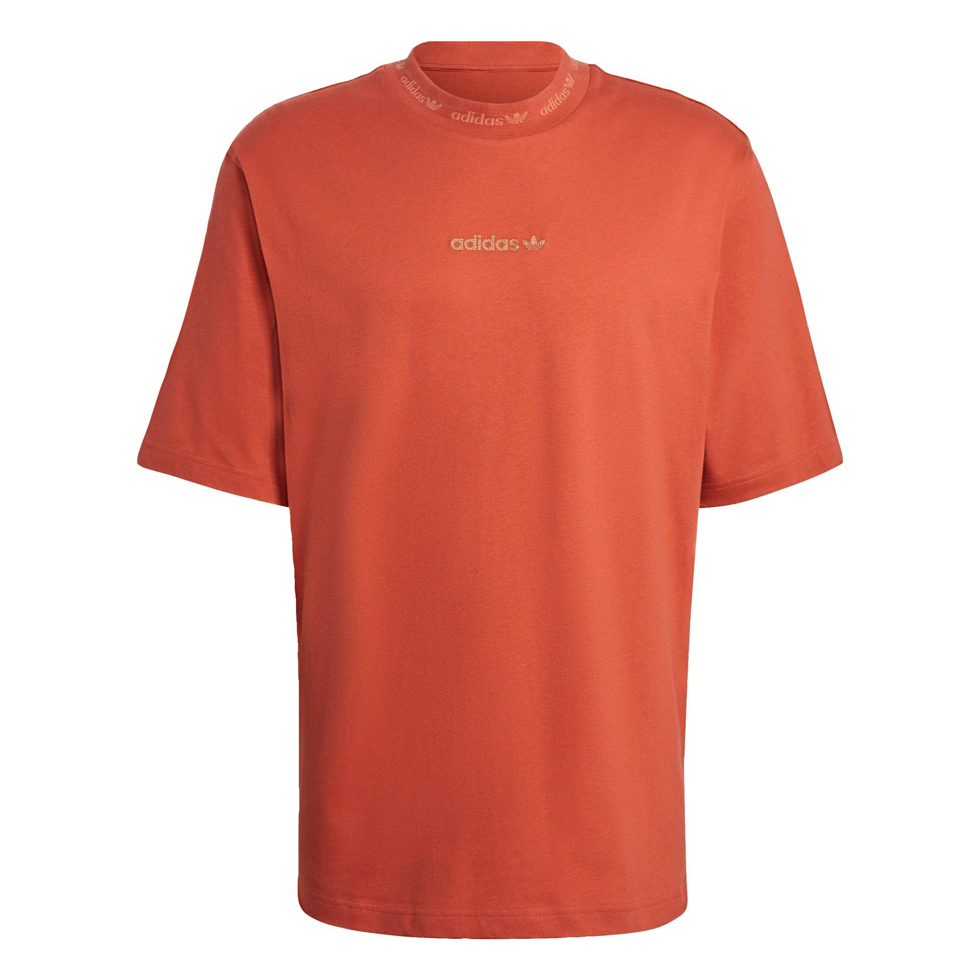 ADIDAS ORIGINALS Marškinėliai tamsiai oranžinė / šviesiai geltona