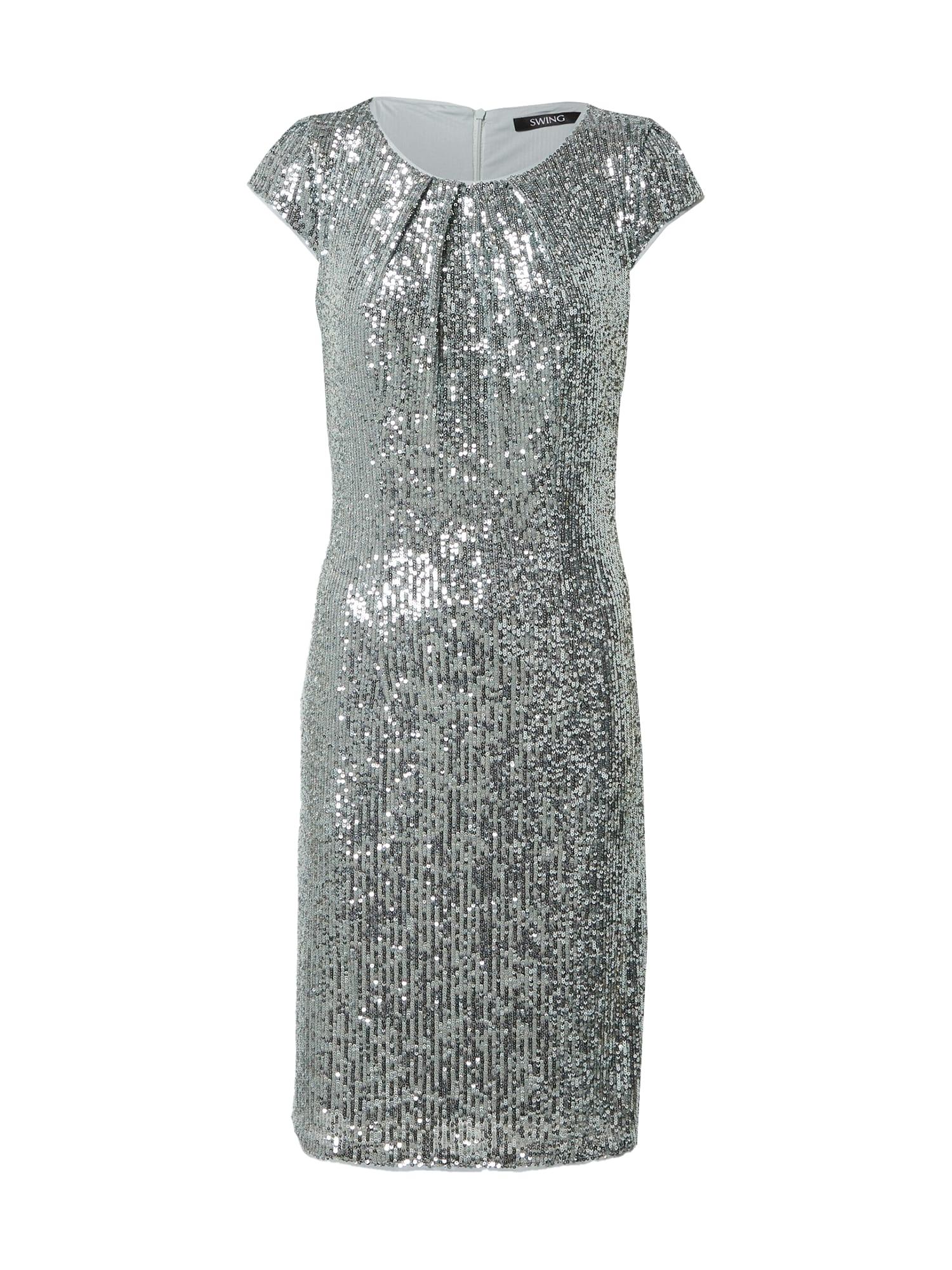 SWING Kokteilinė suknelė sidabrinė