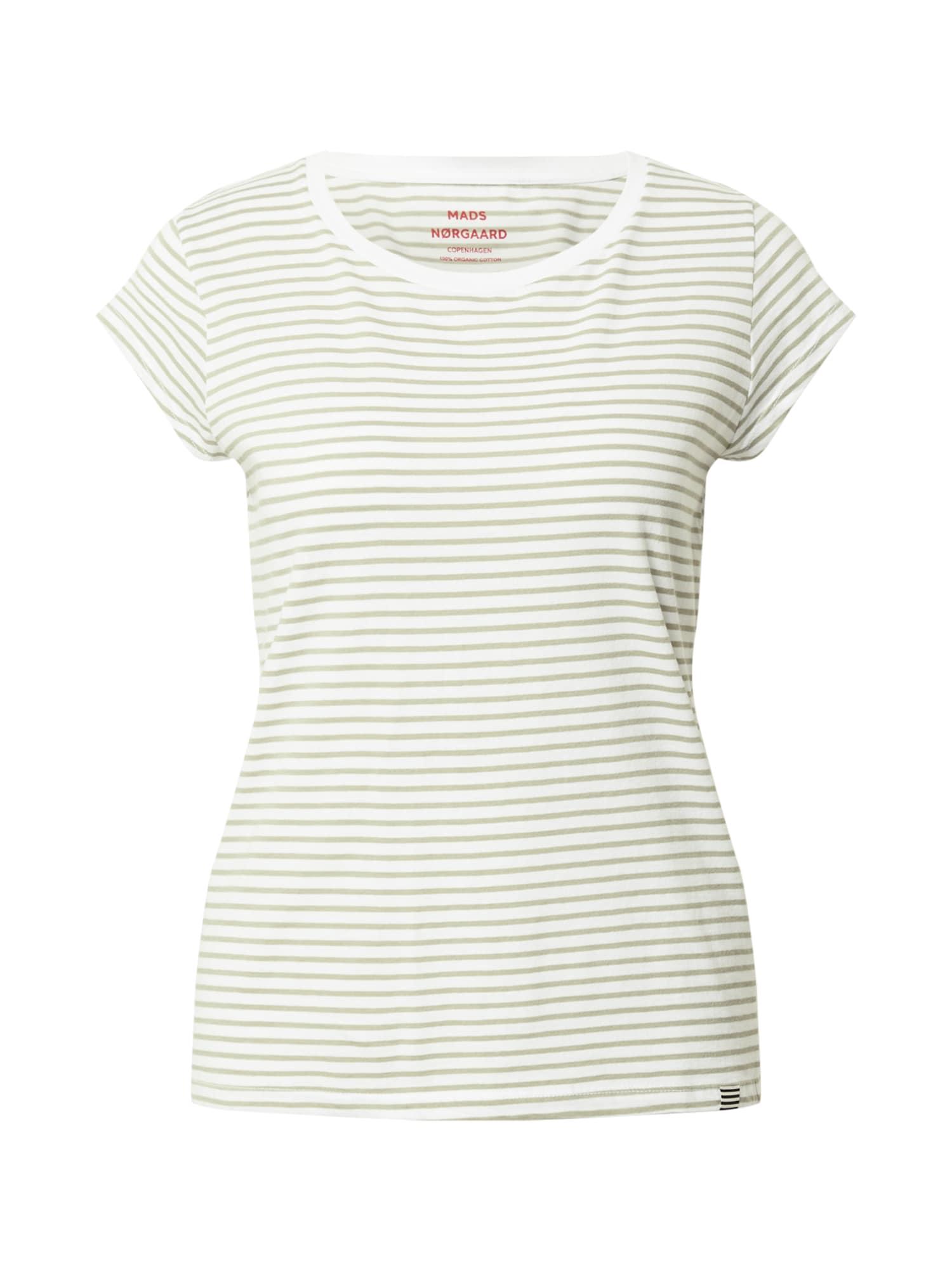 MADS NORGAARD COPENHAGEN Marškinėliai balta / rusvai žalia