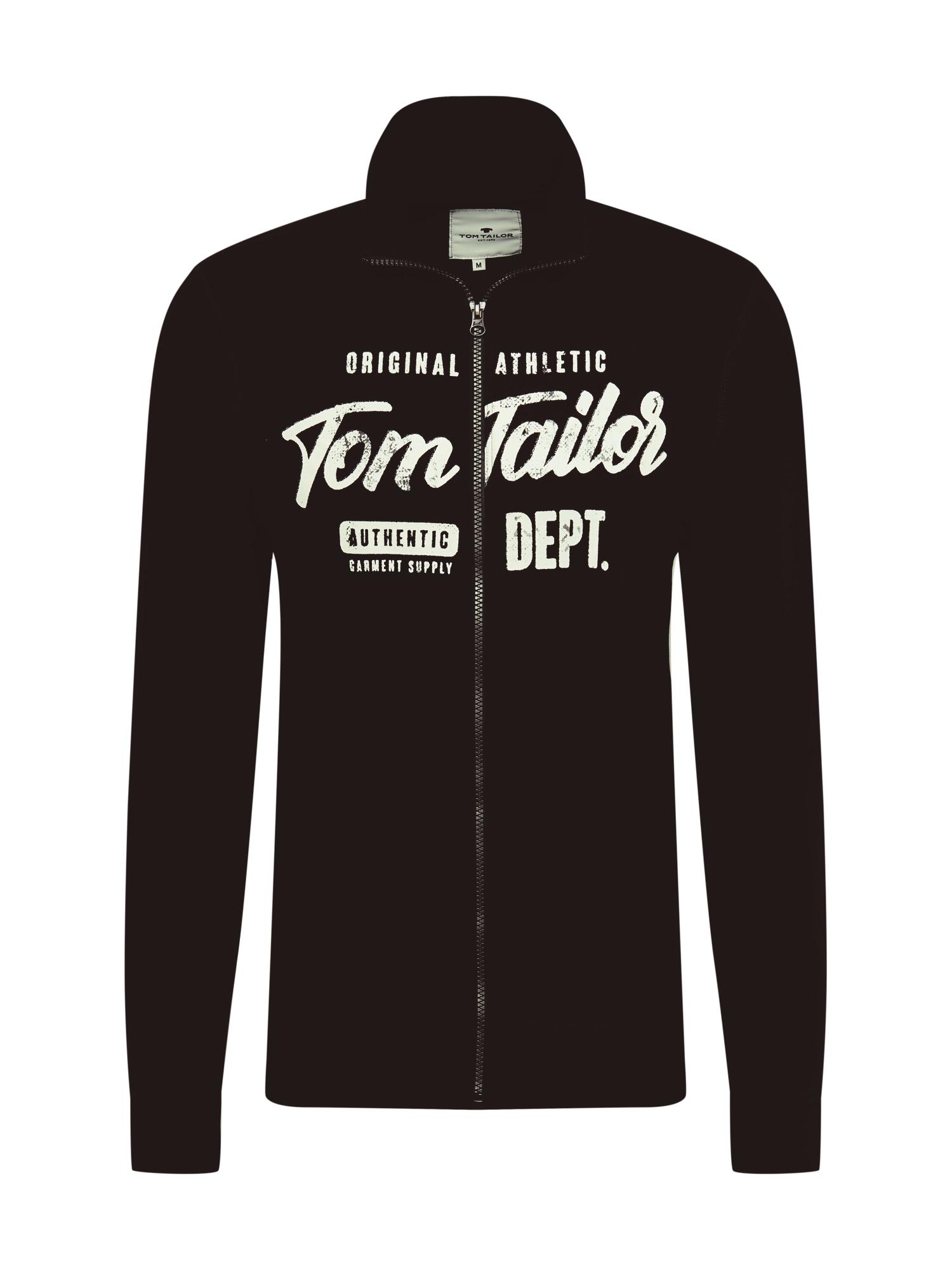 TOM TAILOR Džemperis juoda / balta