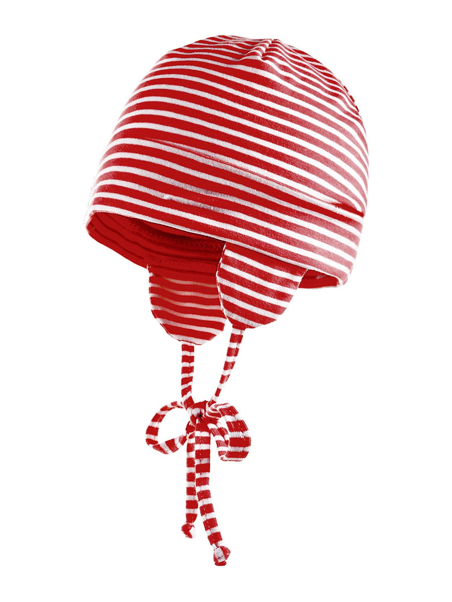 MAXIMO Megzta kepurė balta / raudona