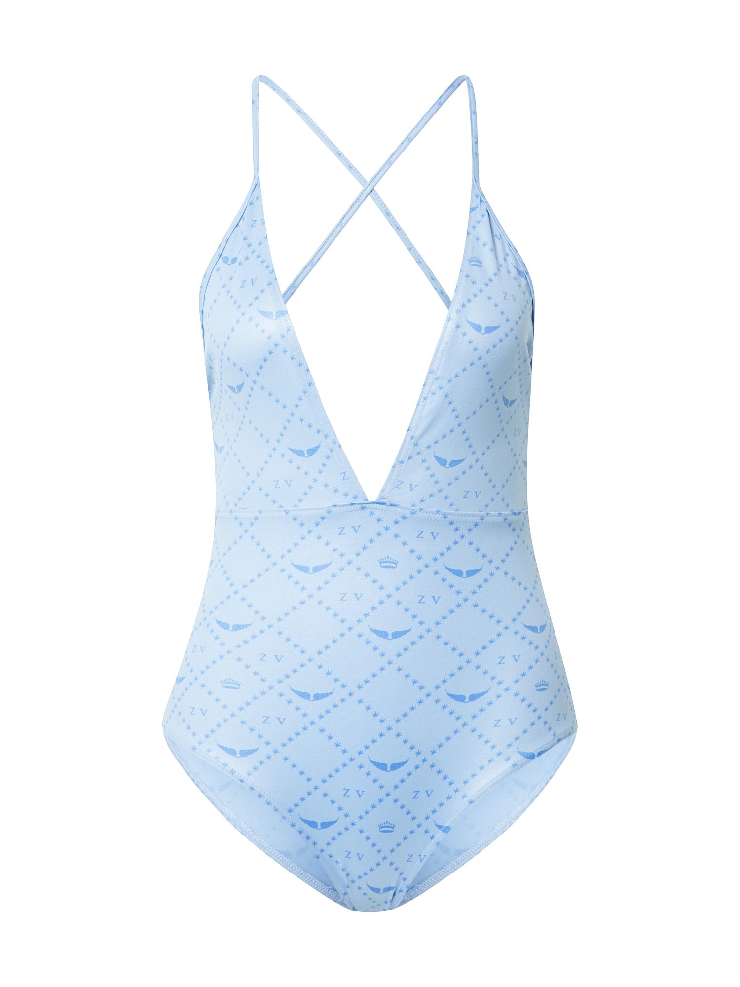 Zadig & Voltaire Maudymosi kostiumėlis azuro spalva / šviesiai mėlyna